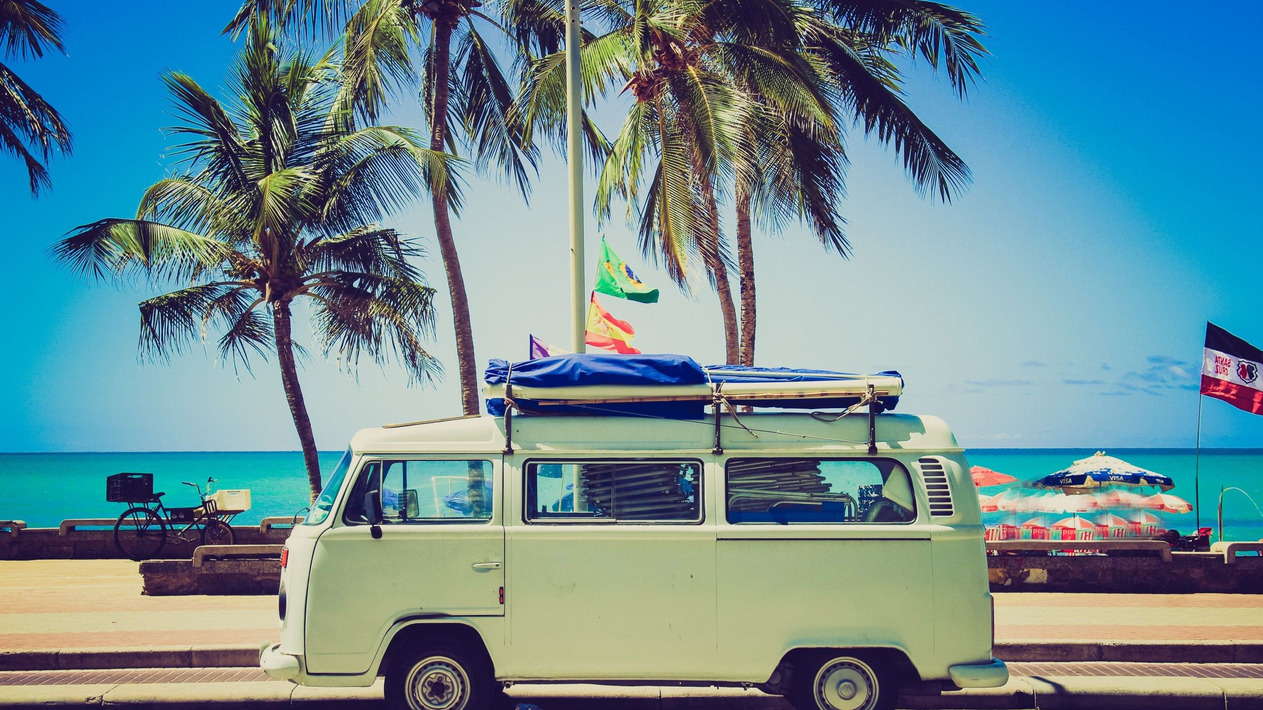 Beach Vw Van Wallpapers On Wallpaperdog
