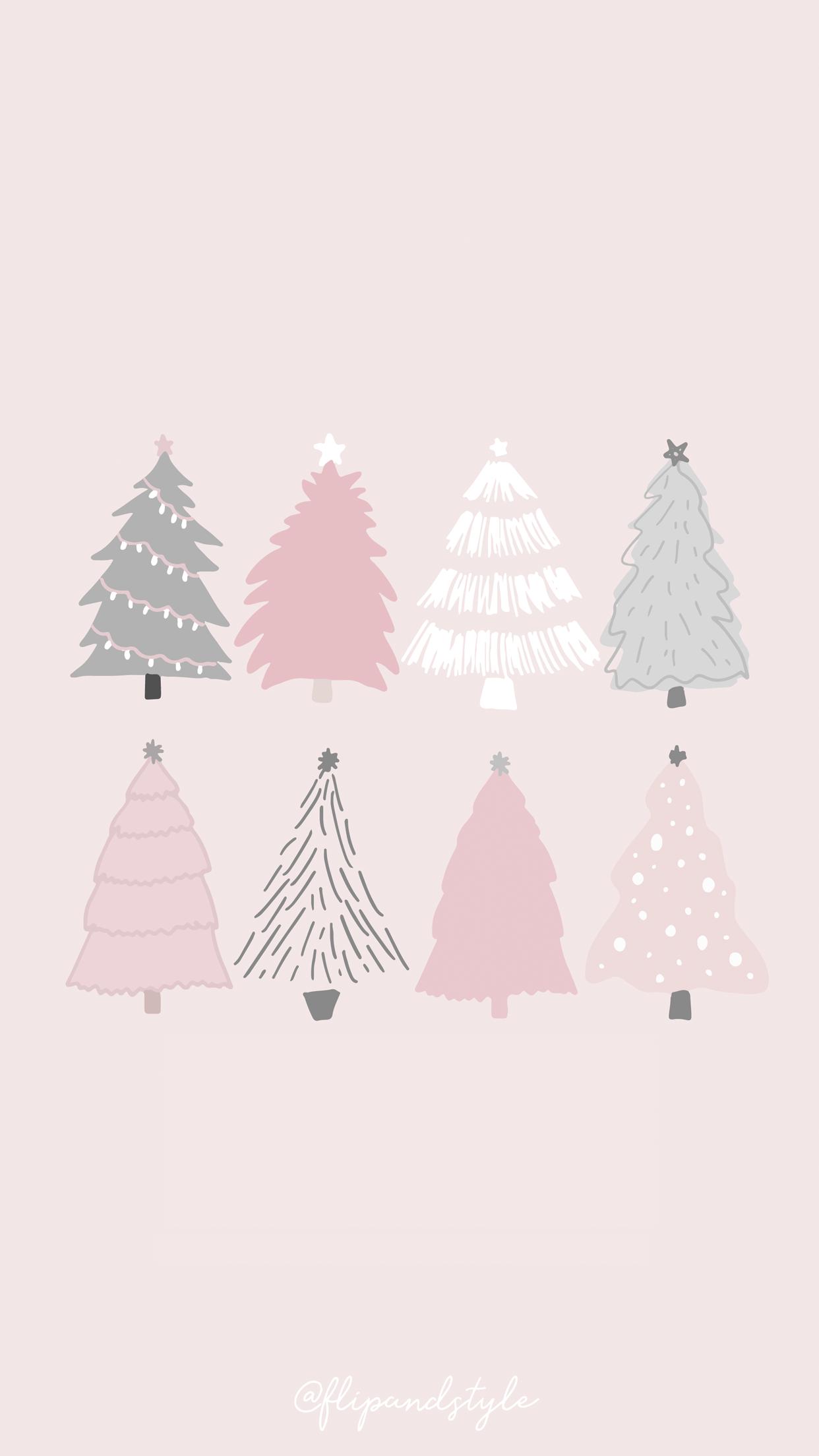 Pastel Christmas Wallpapers On Wallpaperdog