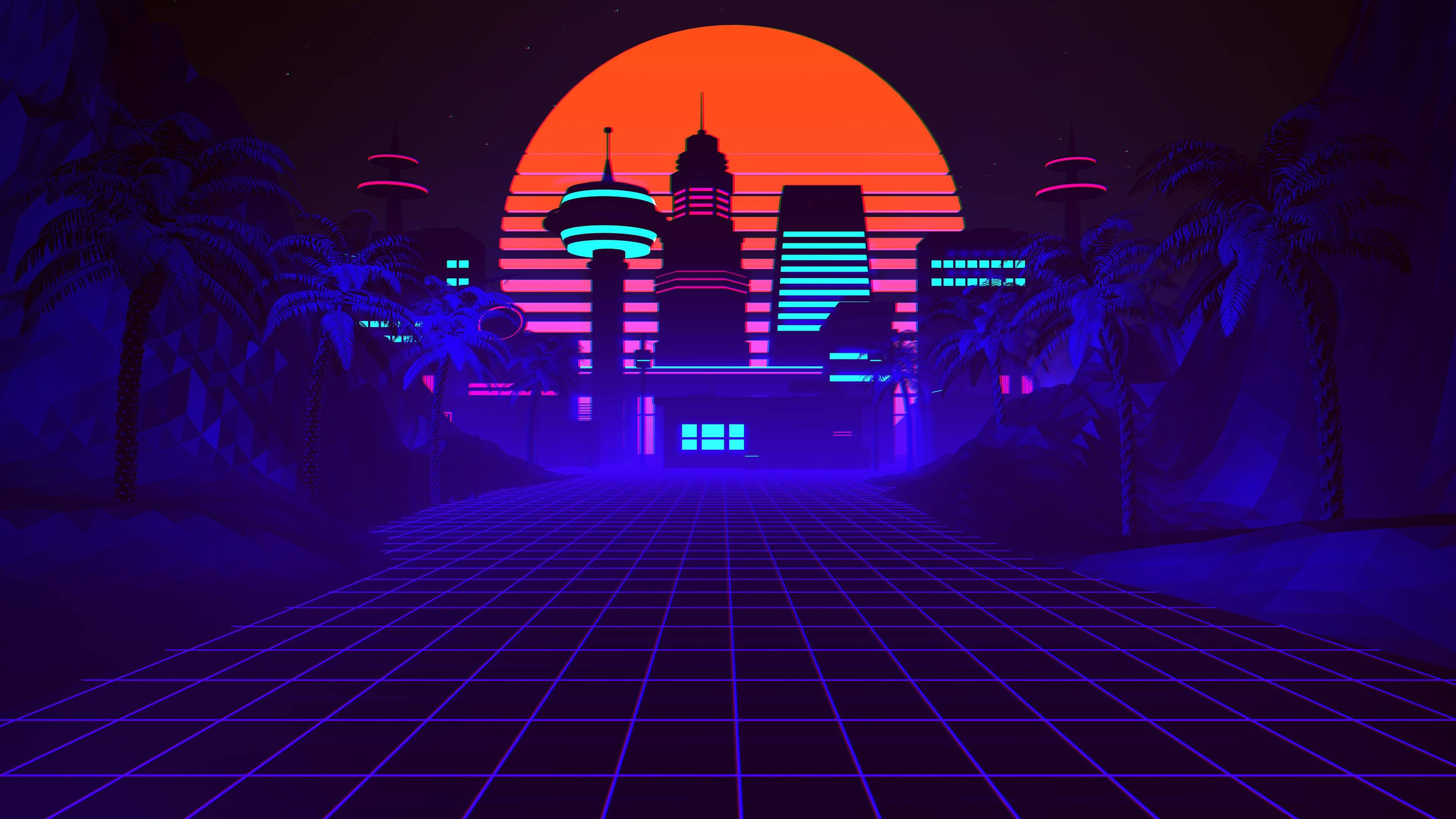 80s Synthwave Wallpapers On Wallpaperdog
