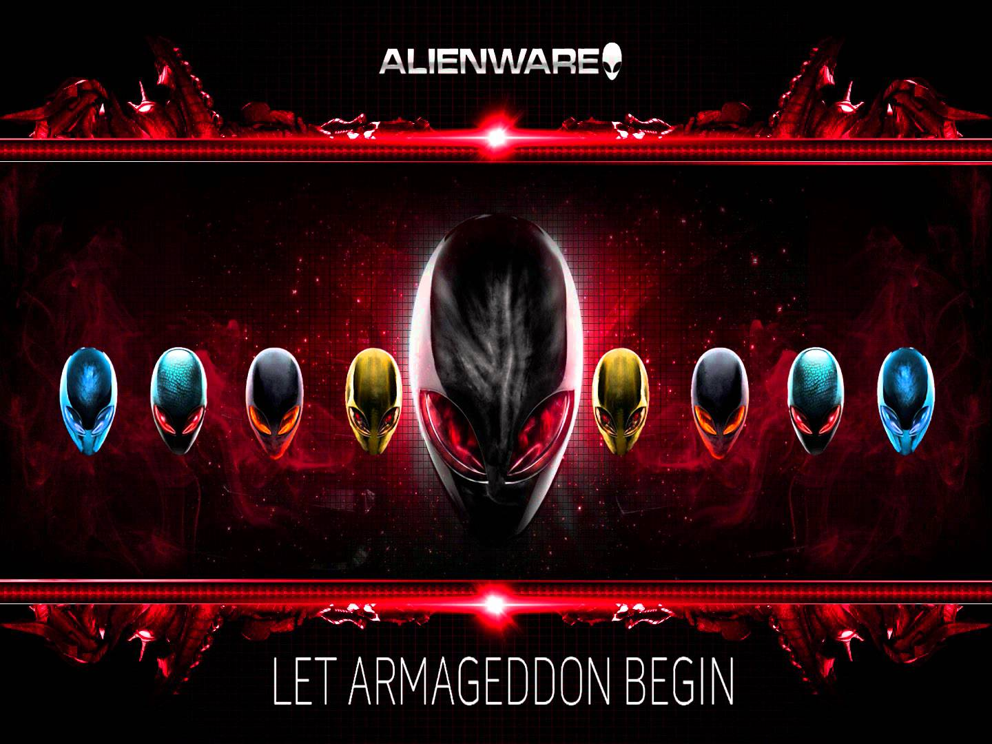Get Alienware Wallpaper 4K Red PNG