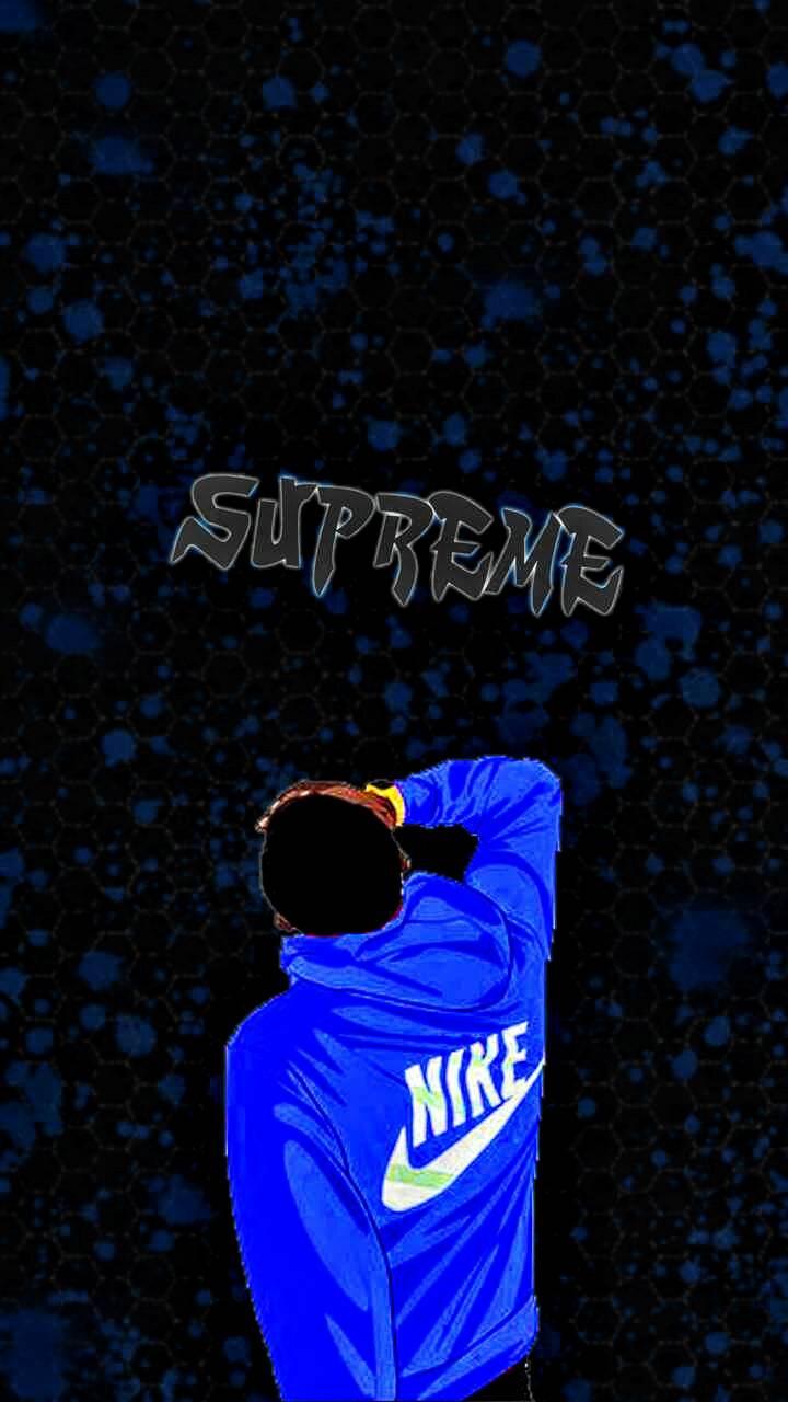 Sypreme Logo Blue Wallpapers On Wallpaperdog