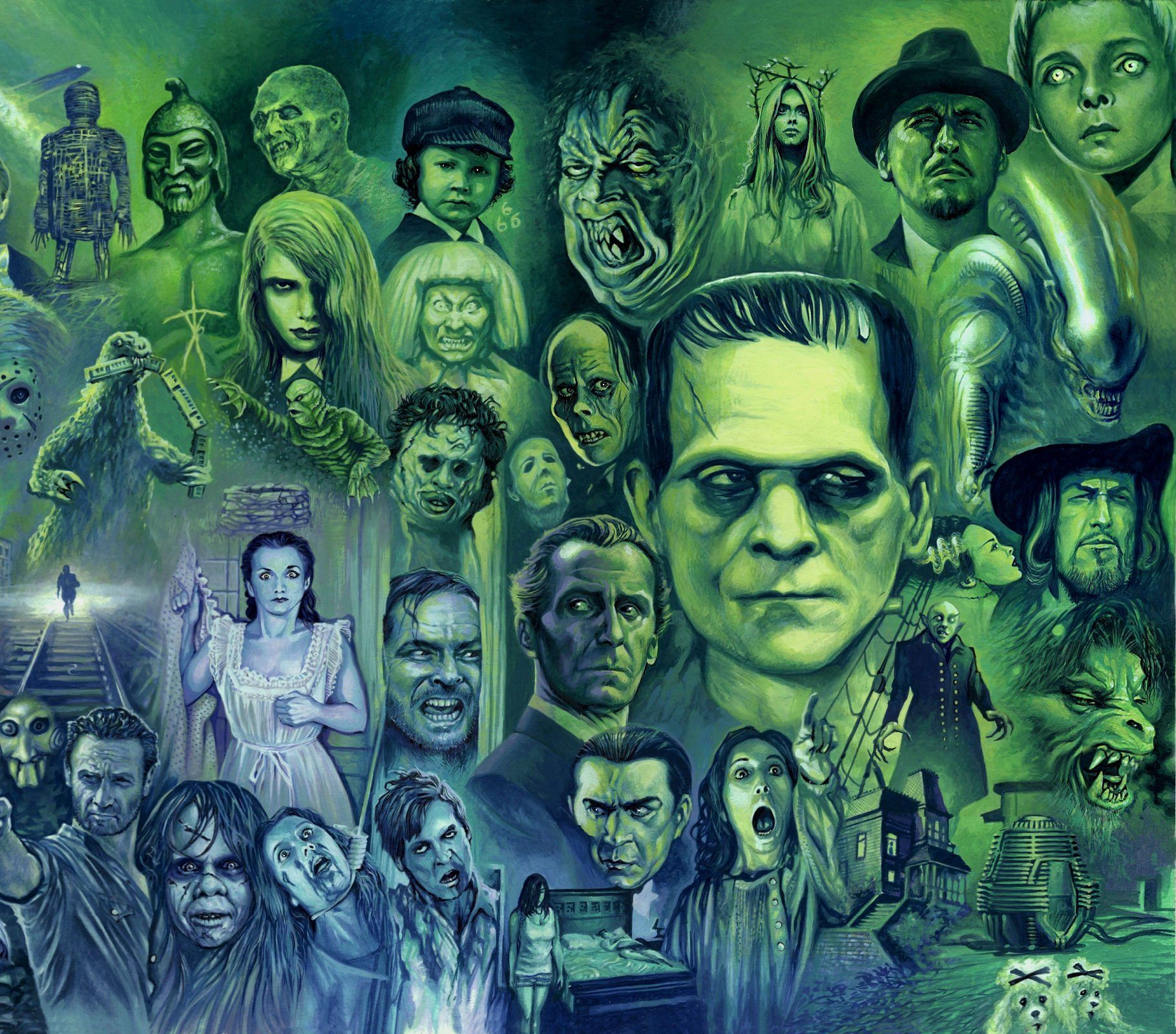 Halloween Monster Wallpapers On Wallpaperdog