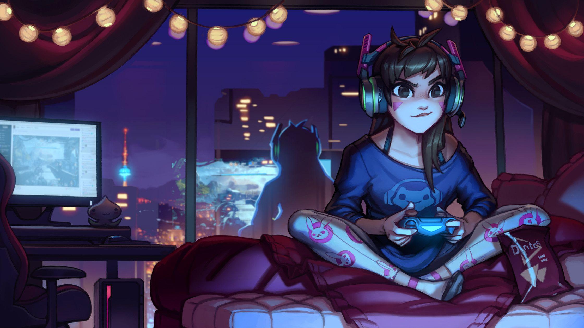 Pinterest girl anime gamer 24 Best