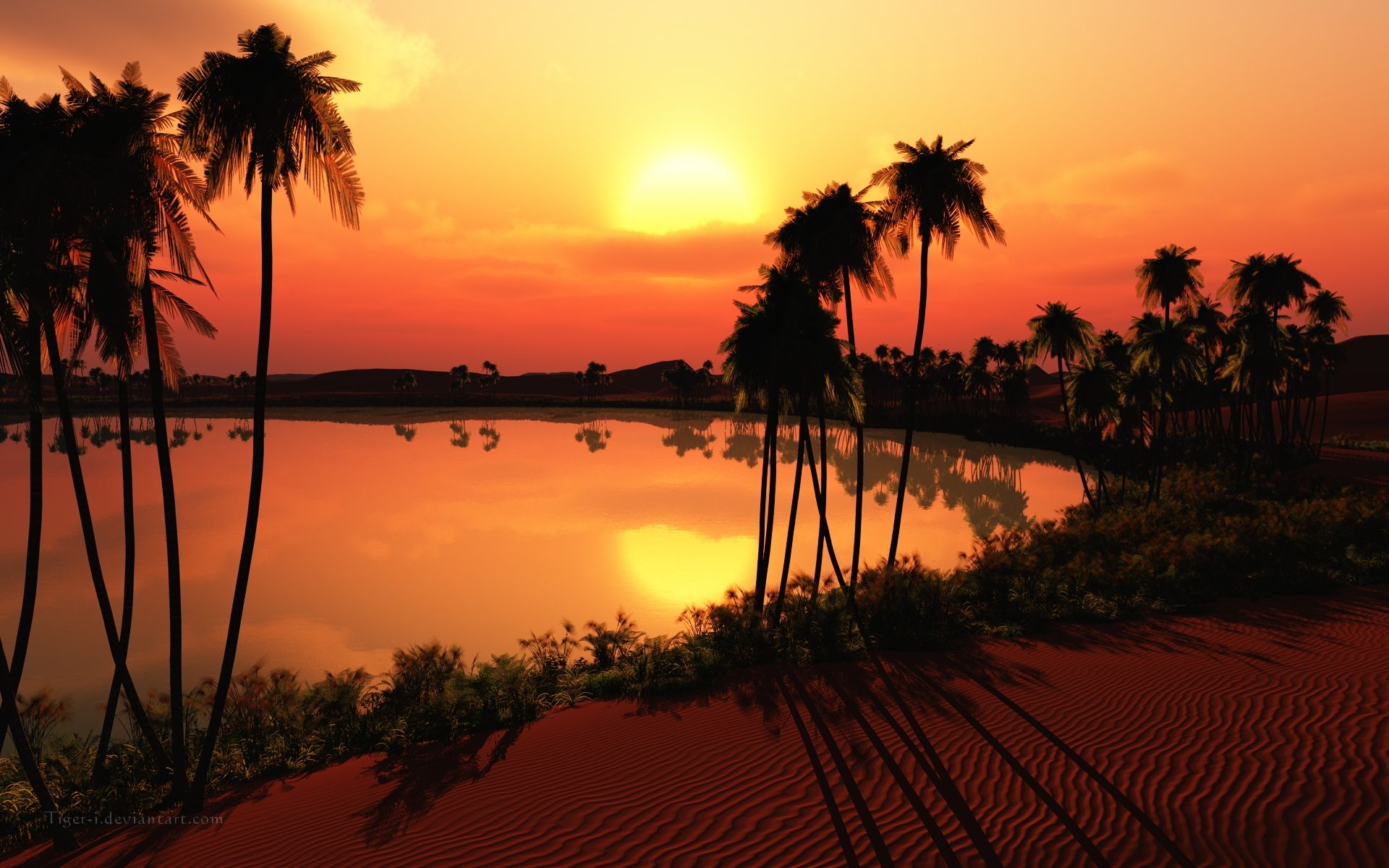 Desert Oasis Sunset Park