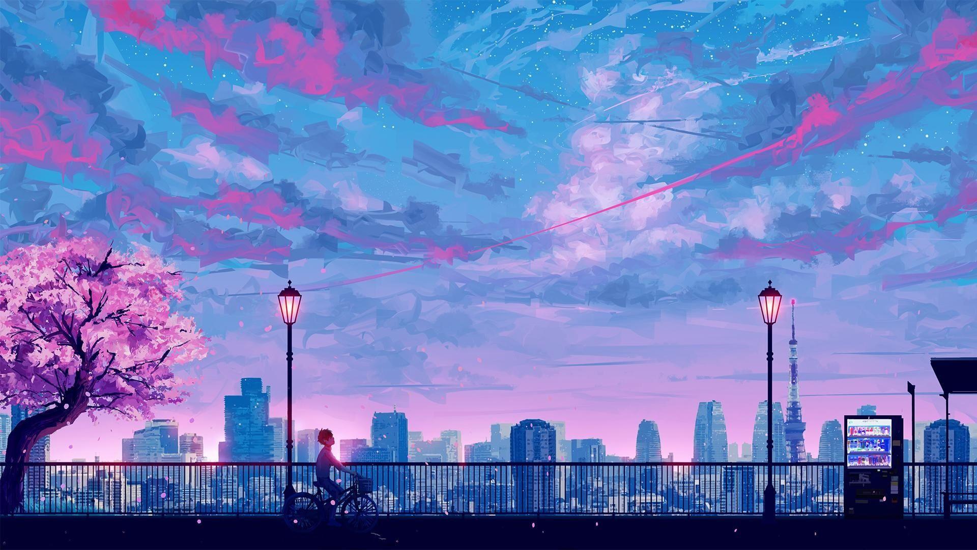 Anime City Wallpapers on WallpaperDog