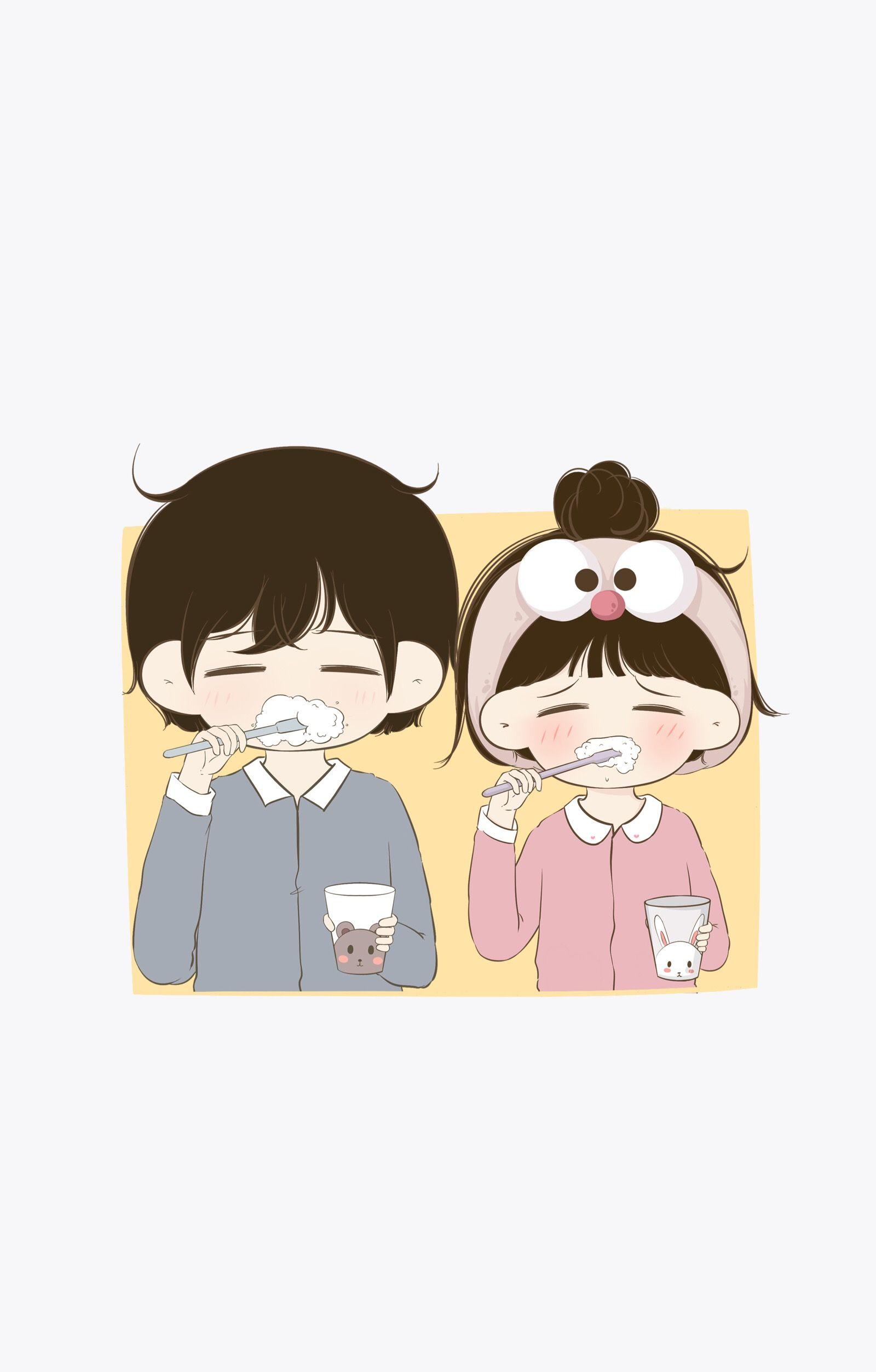 Cute Couple Chibi Anime Wallpapers On Wallpaperdog