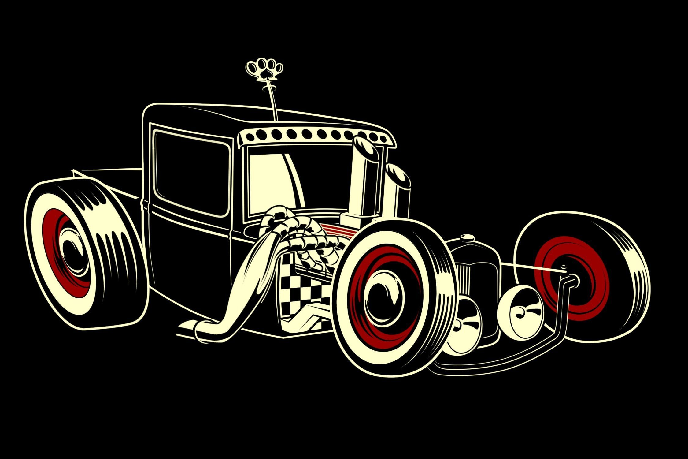 Hot Rod Art Wallpapers On Wallpaperdog