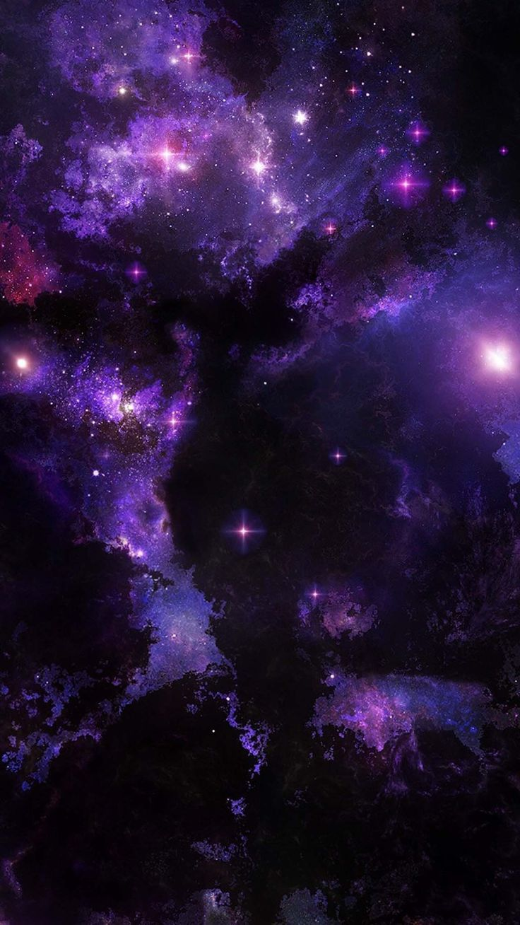 Black And Purple Galaxy Wallpapers On Wallpaperdog