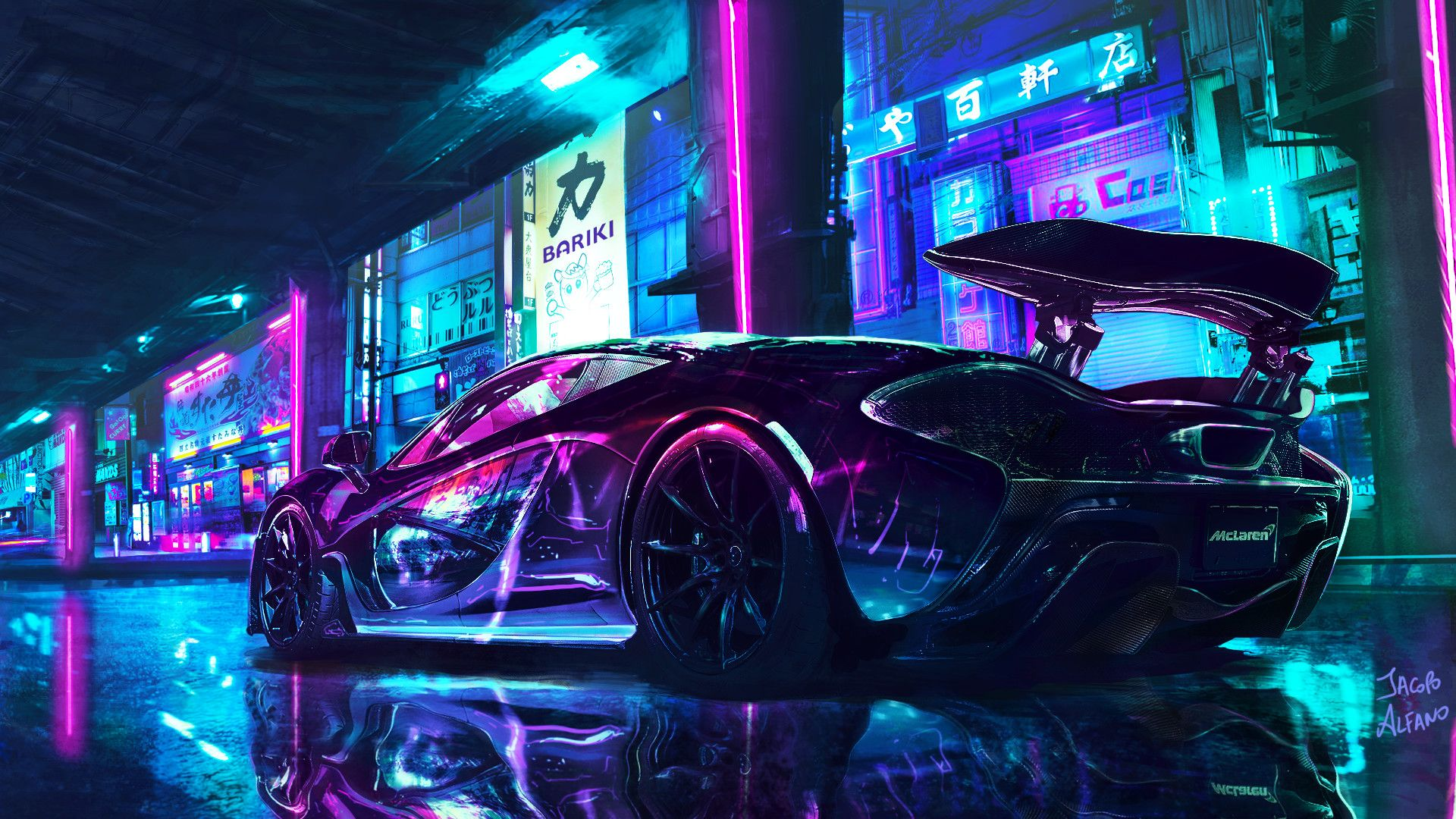 Neon Supercars Wallpapers On Wallpaperdog