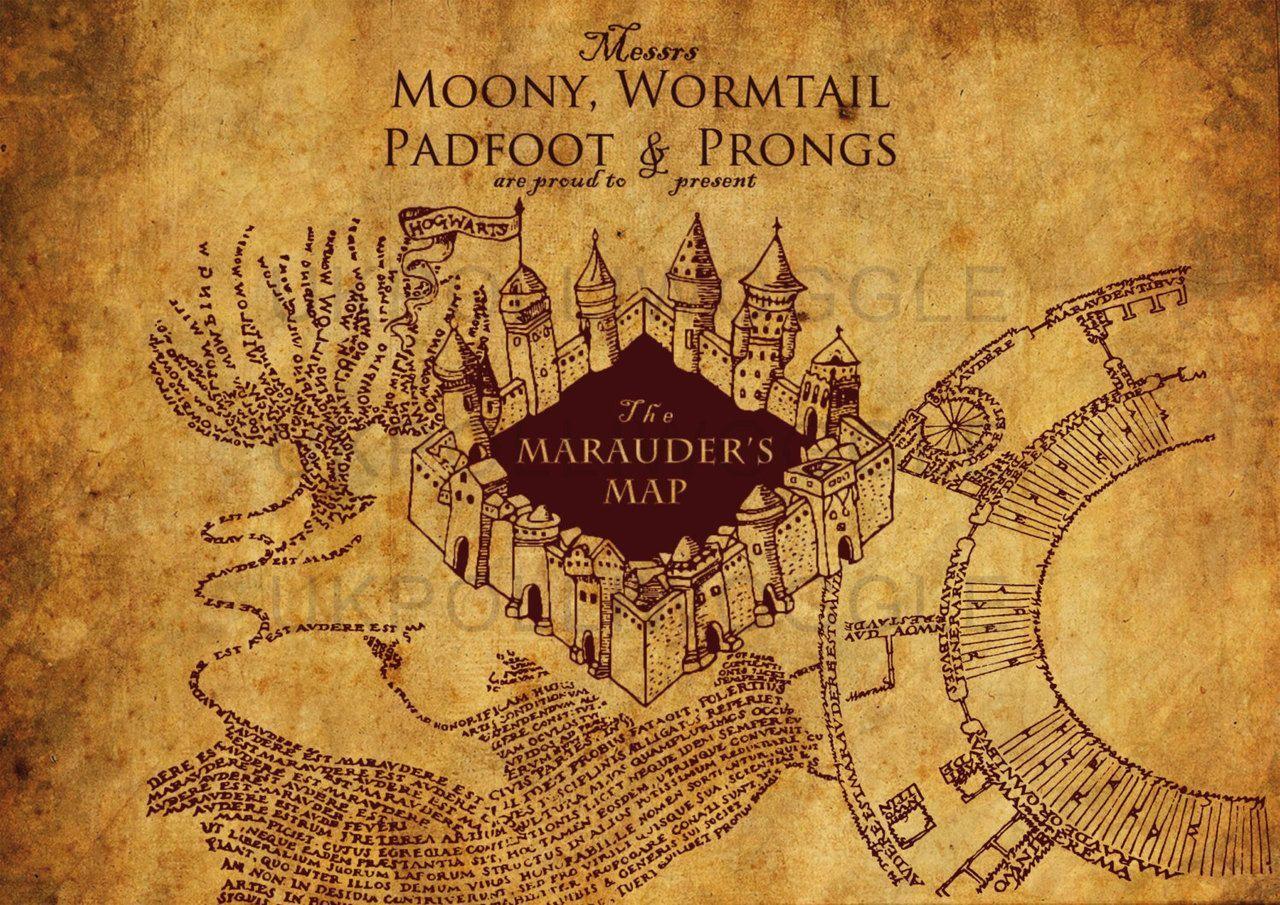 harry potter marauders map diy ...