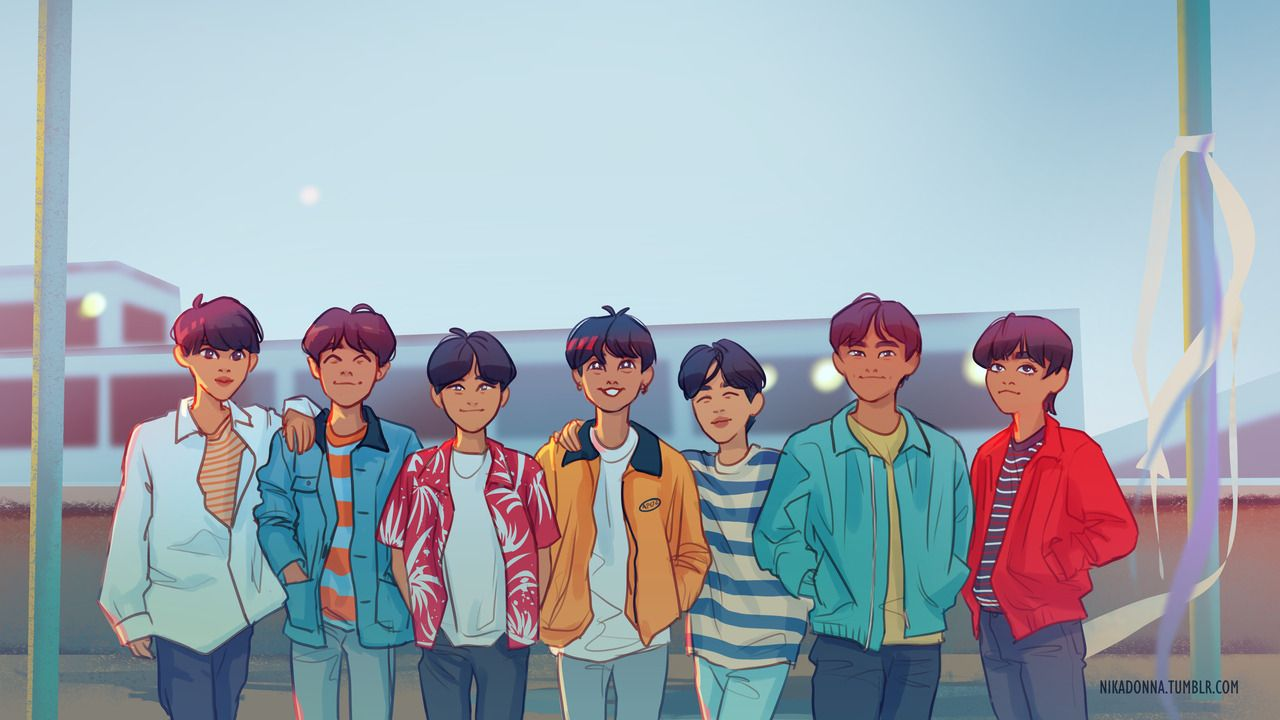 Bts Fan Art Desktop Wallpapers On Wallpaperdog