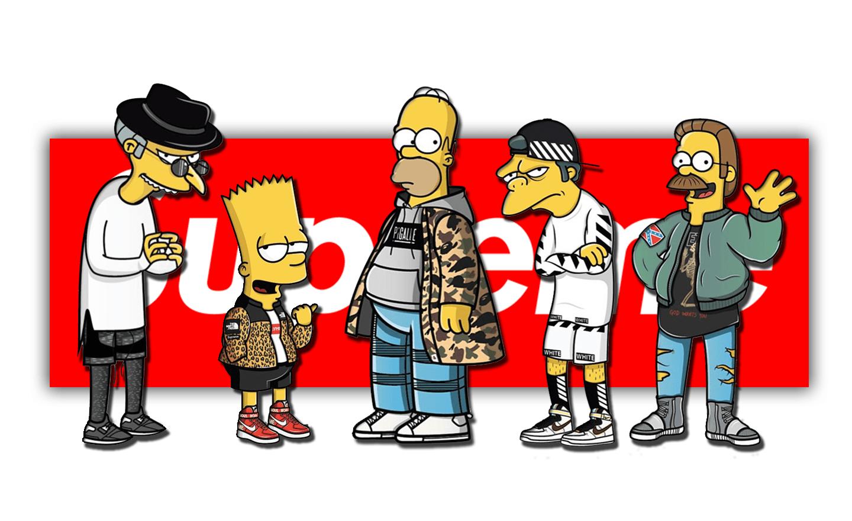 White Bart Simpson Supreme Wallpapers on WallpaperDog