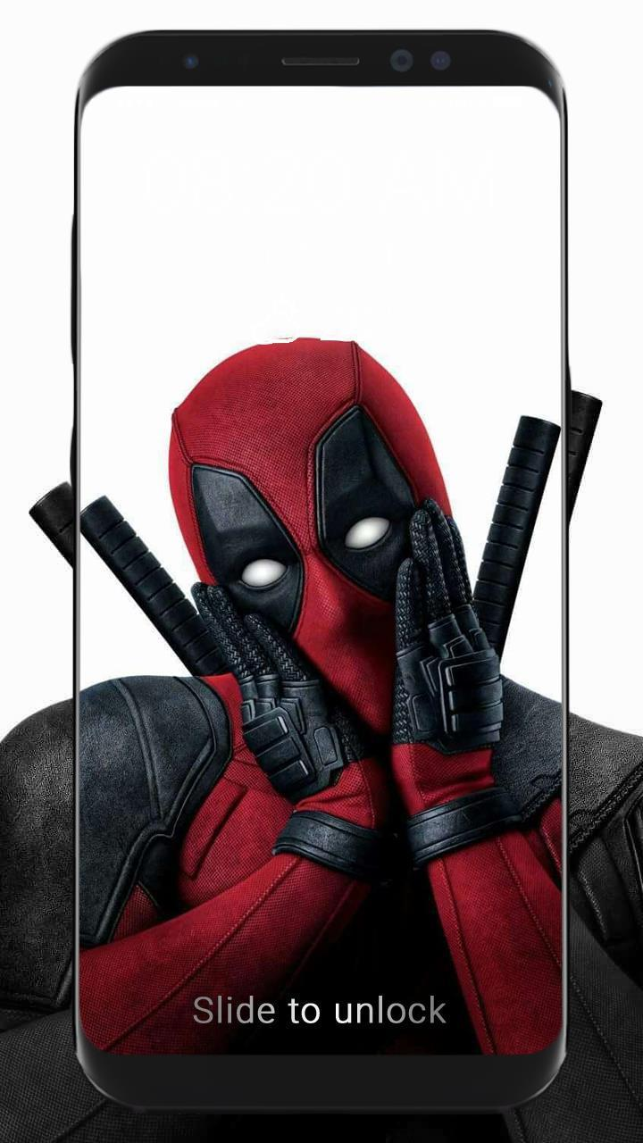 Lock Screen Deadpool Wallpaper Funny Gif