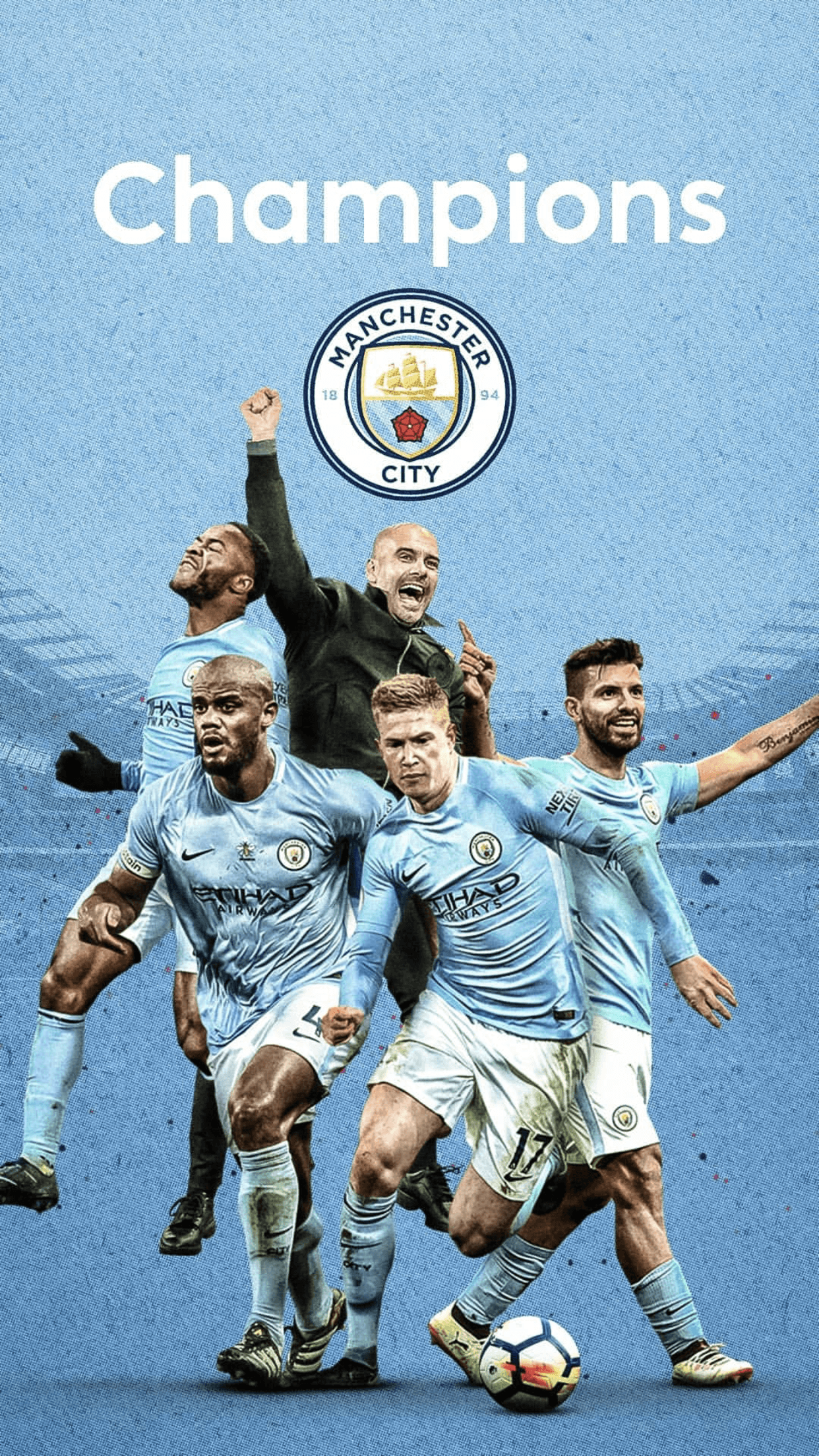 Man City Champions 2018 Wallpapers On Wallpaperdog