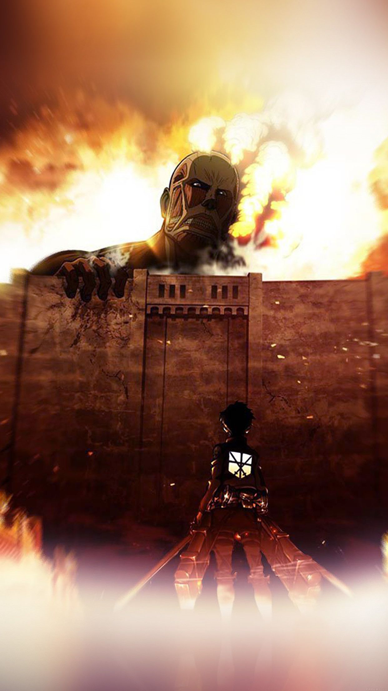 Attack On Titan Iphone Wallpapers On Wallpaperdog
