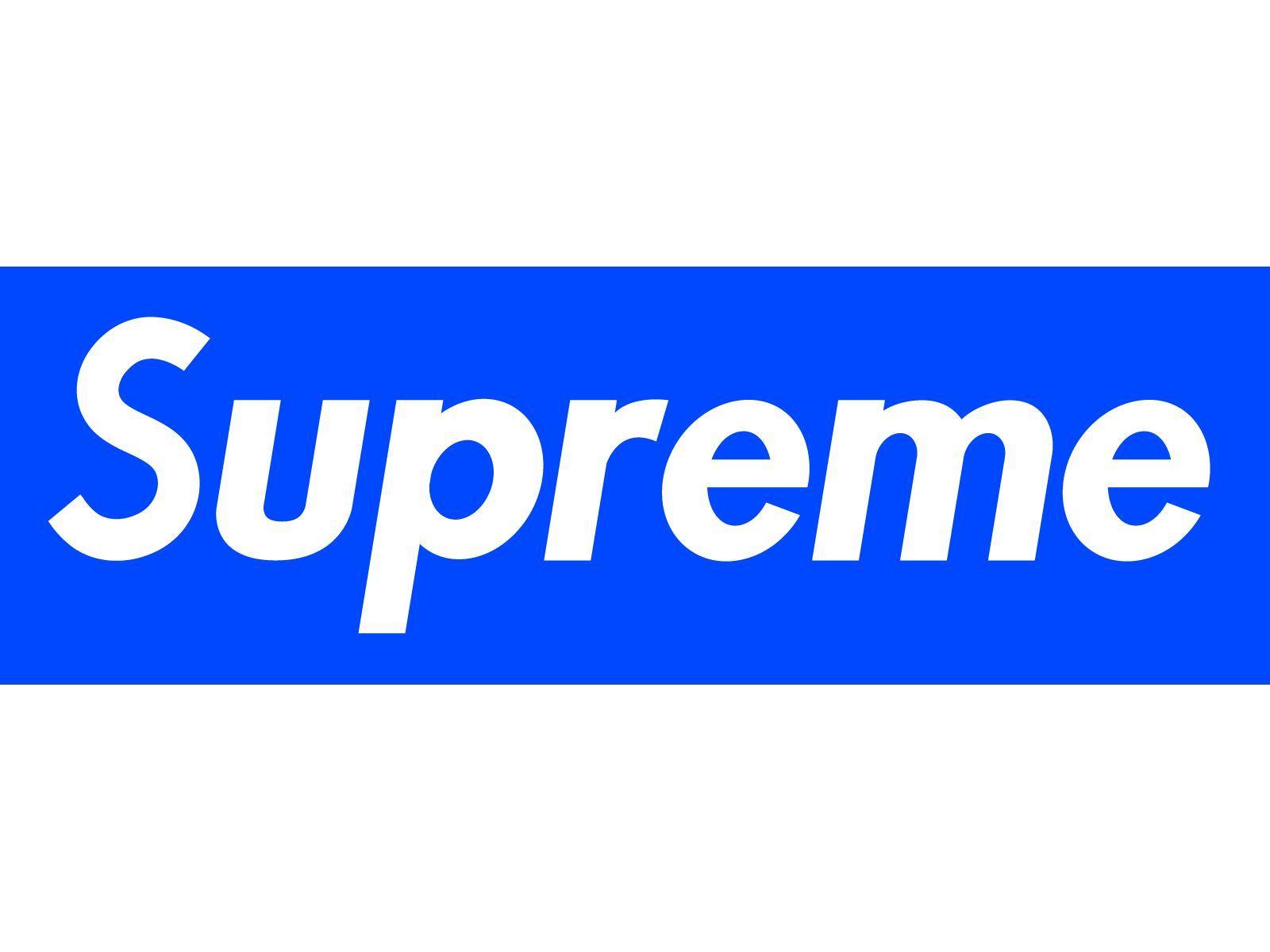 Blue Supreme Box Logo Wallpapers On Wallpaperdog