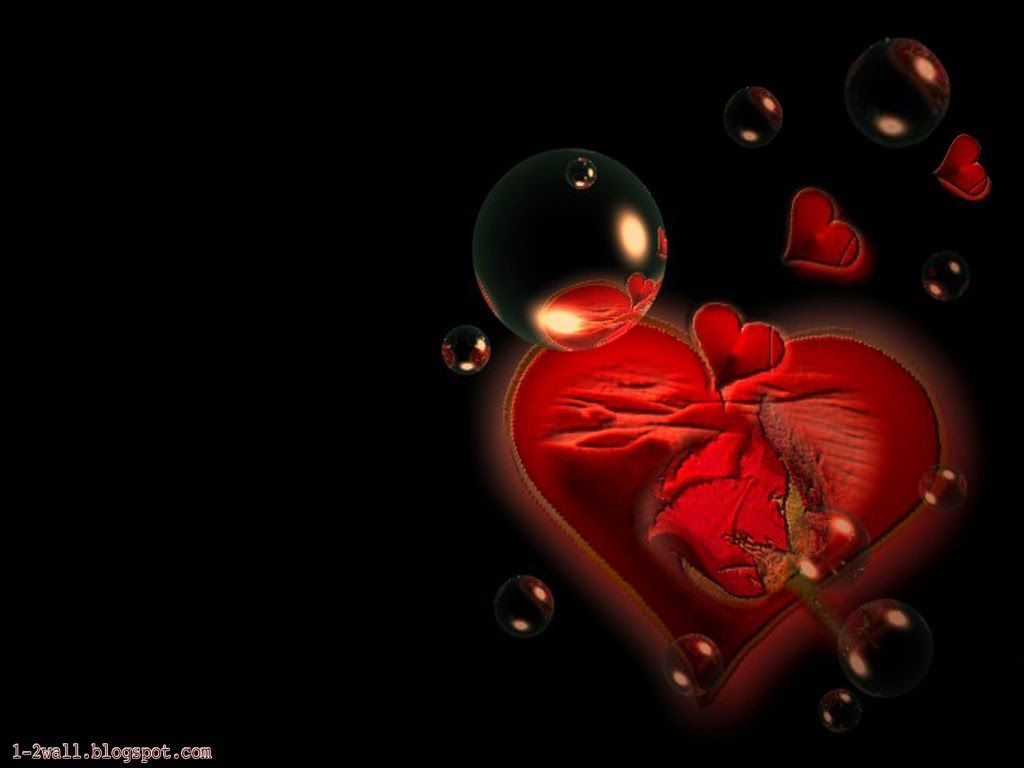 All Black Red Heart Wallpapers on ...