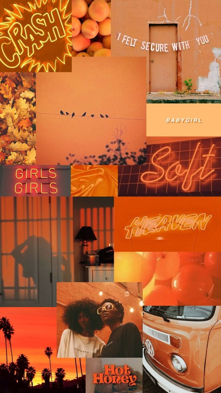 Orange Aesthetic Girl Wallpapers On Wallpaperdog