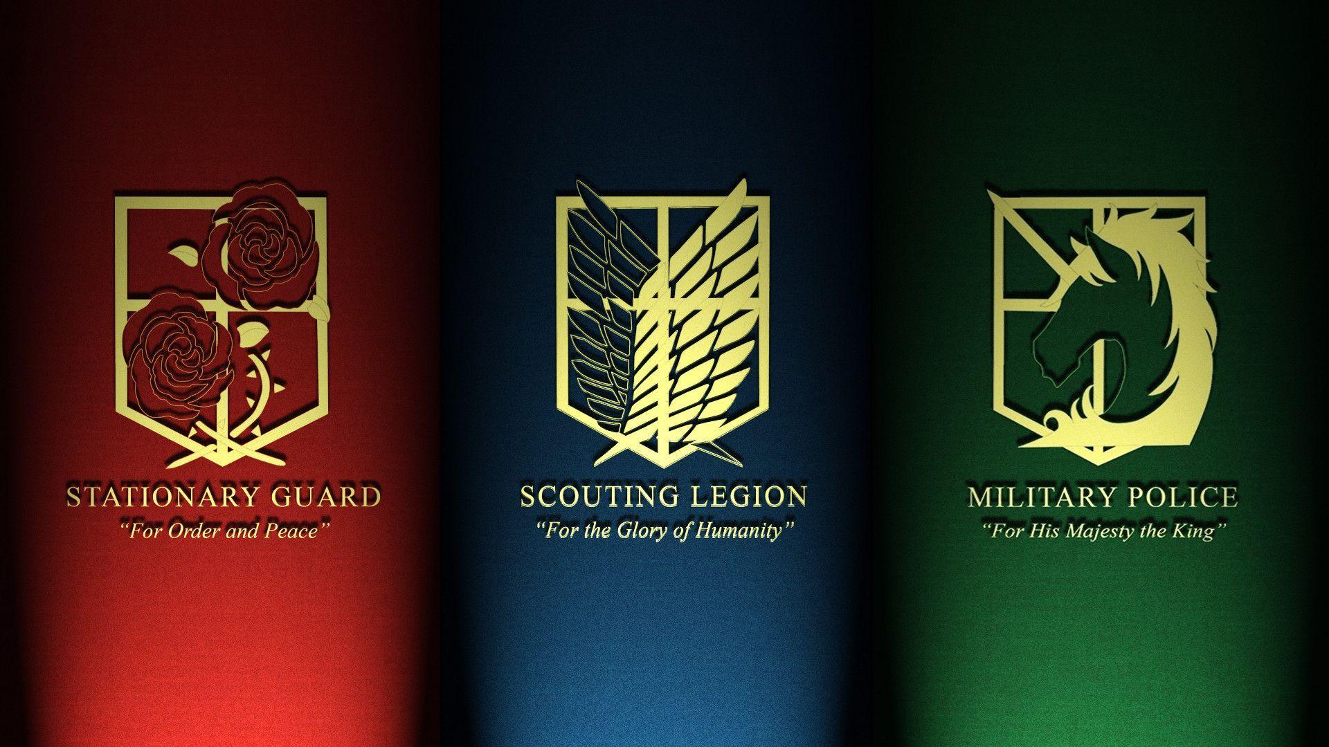 Attack On Titan Logo Wallpapers On Wallpaperdog