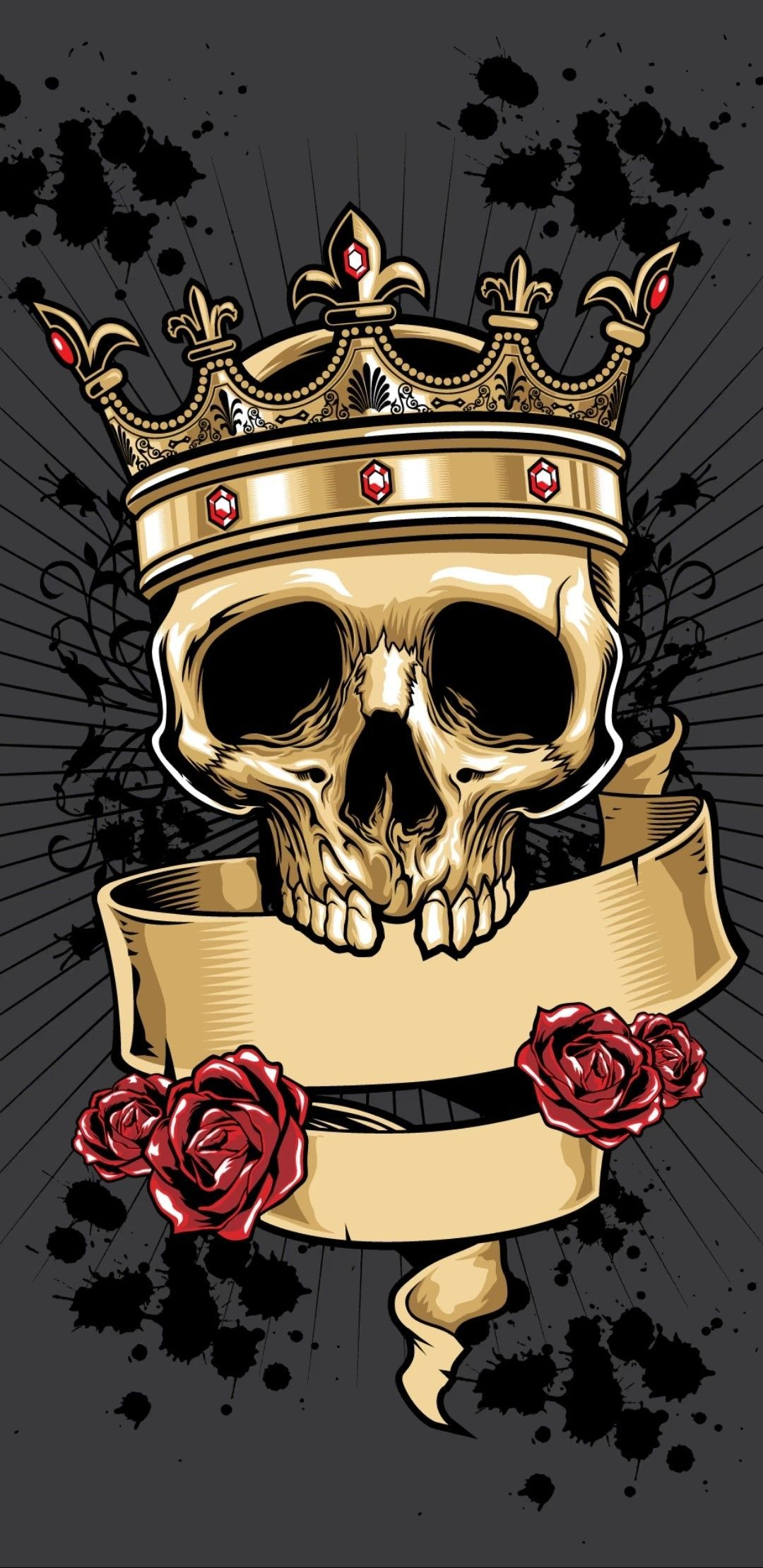 Skull With Crown Wallpapers On Wallpaperdog