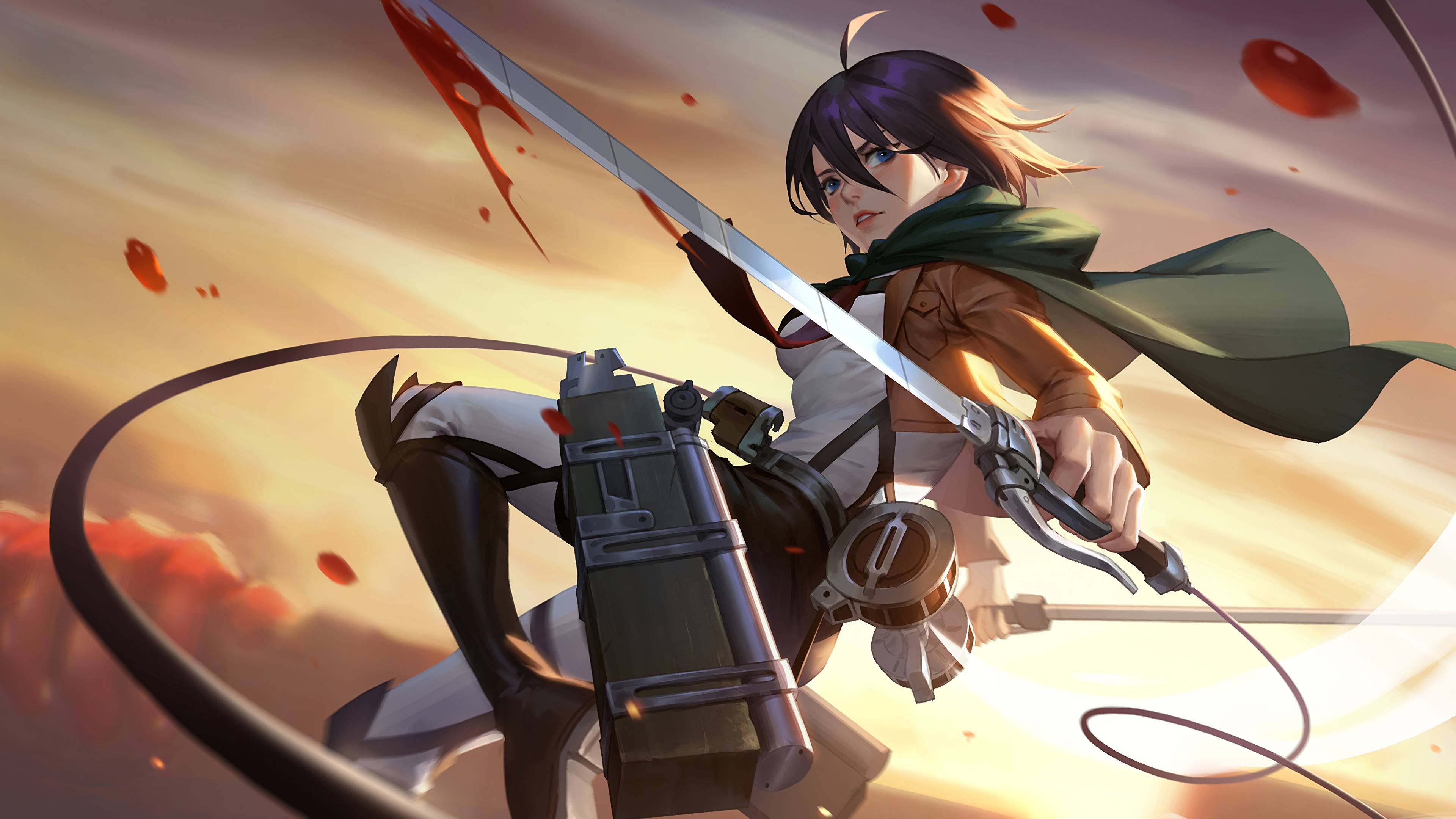 Attack On Titan Mikasa Wallpapers On Wallpaperdog
