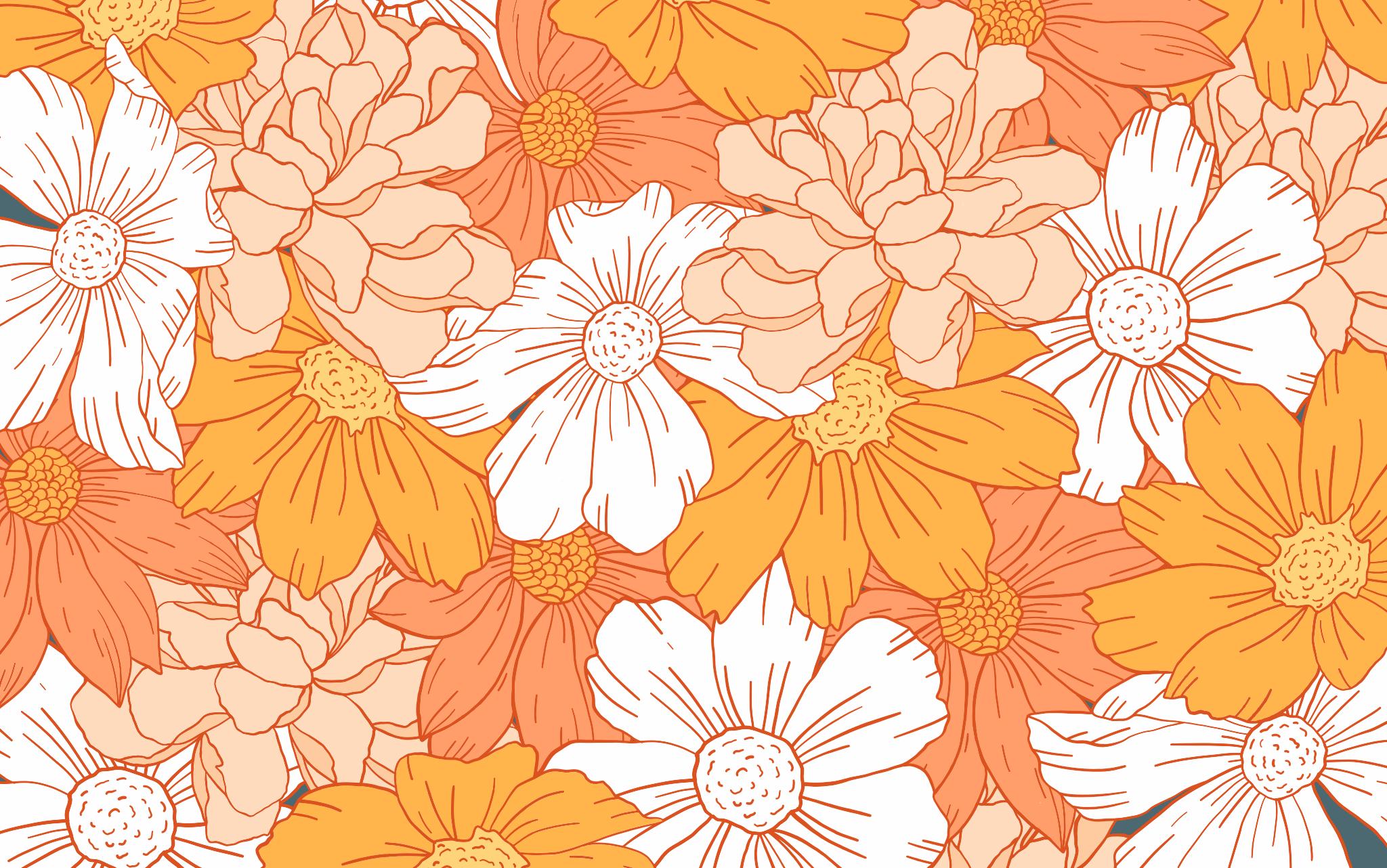 Orange Aesthetic Computer Wallpapers On Wallpaperdog