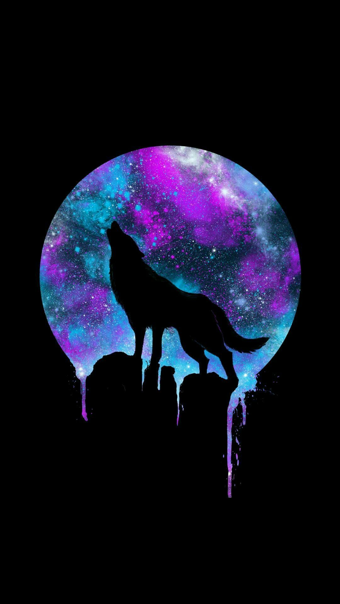 Wolves Galaxy Wallpapers On Wallpaperdog