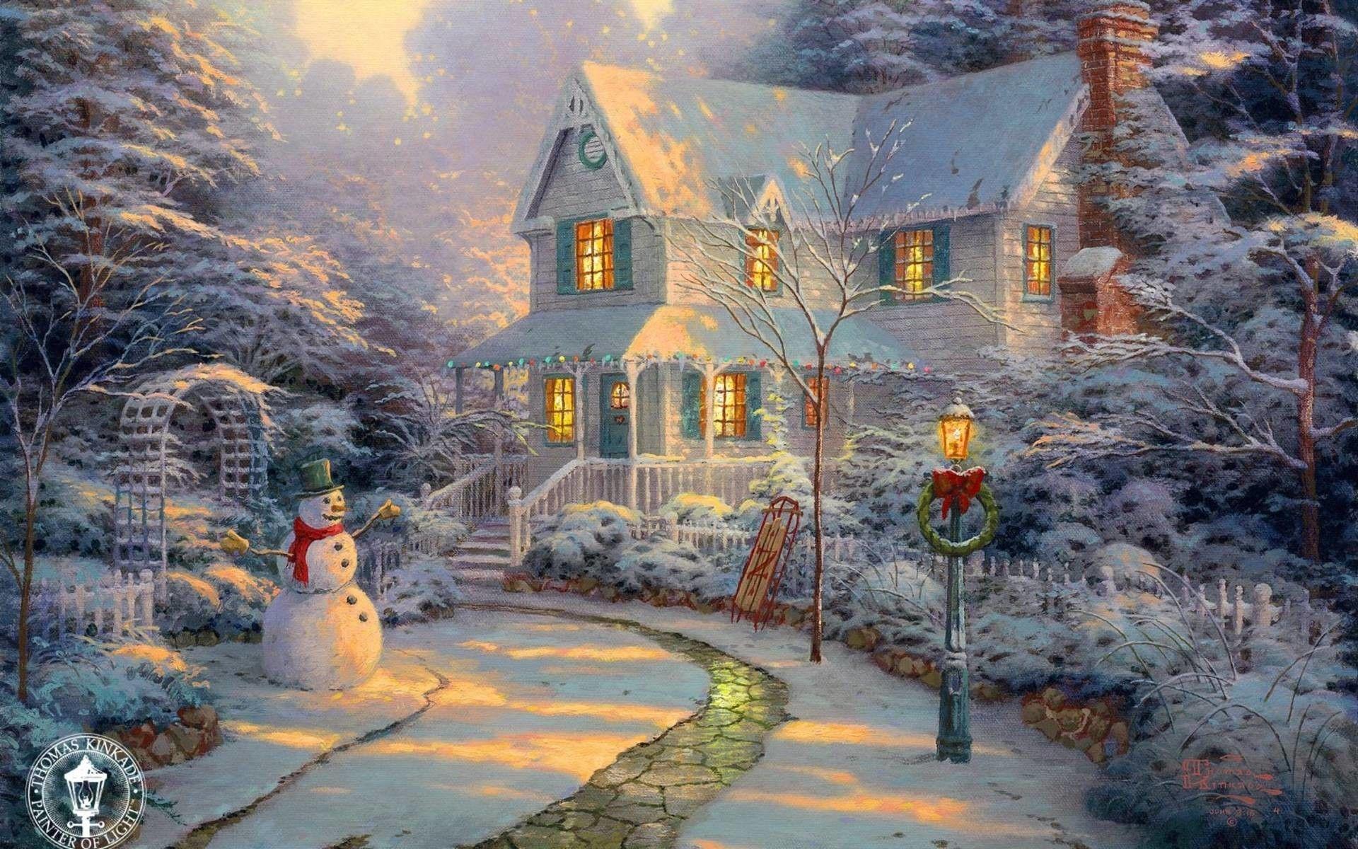 Thomas Kinkade Christmas Desktop ...