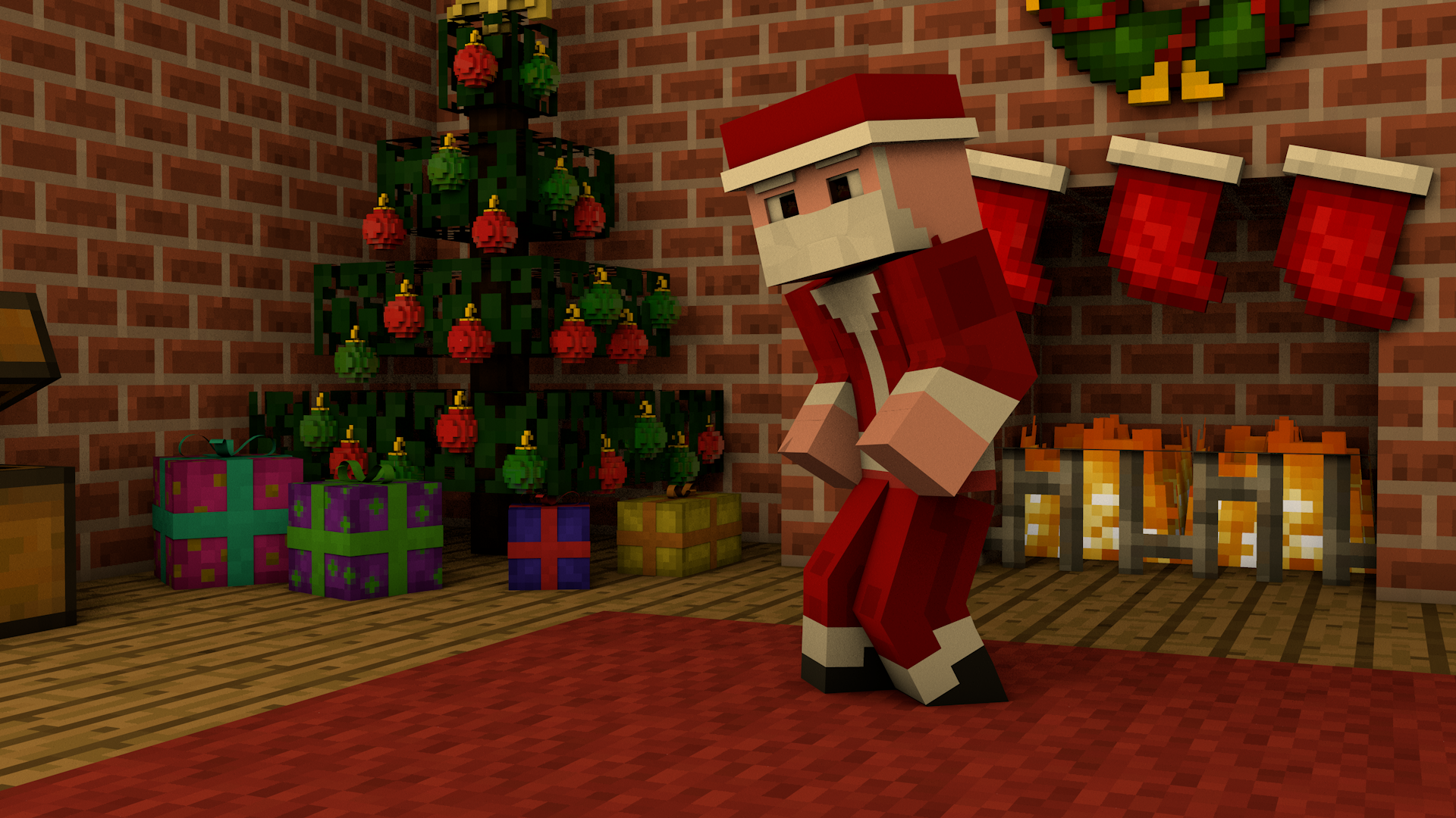 Minecraft Christmas Wallpapers on WallpaperDog