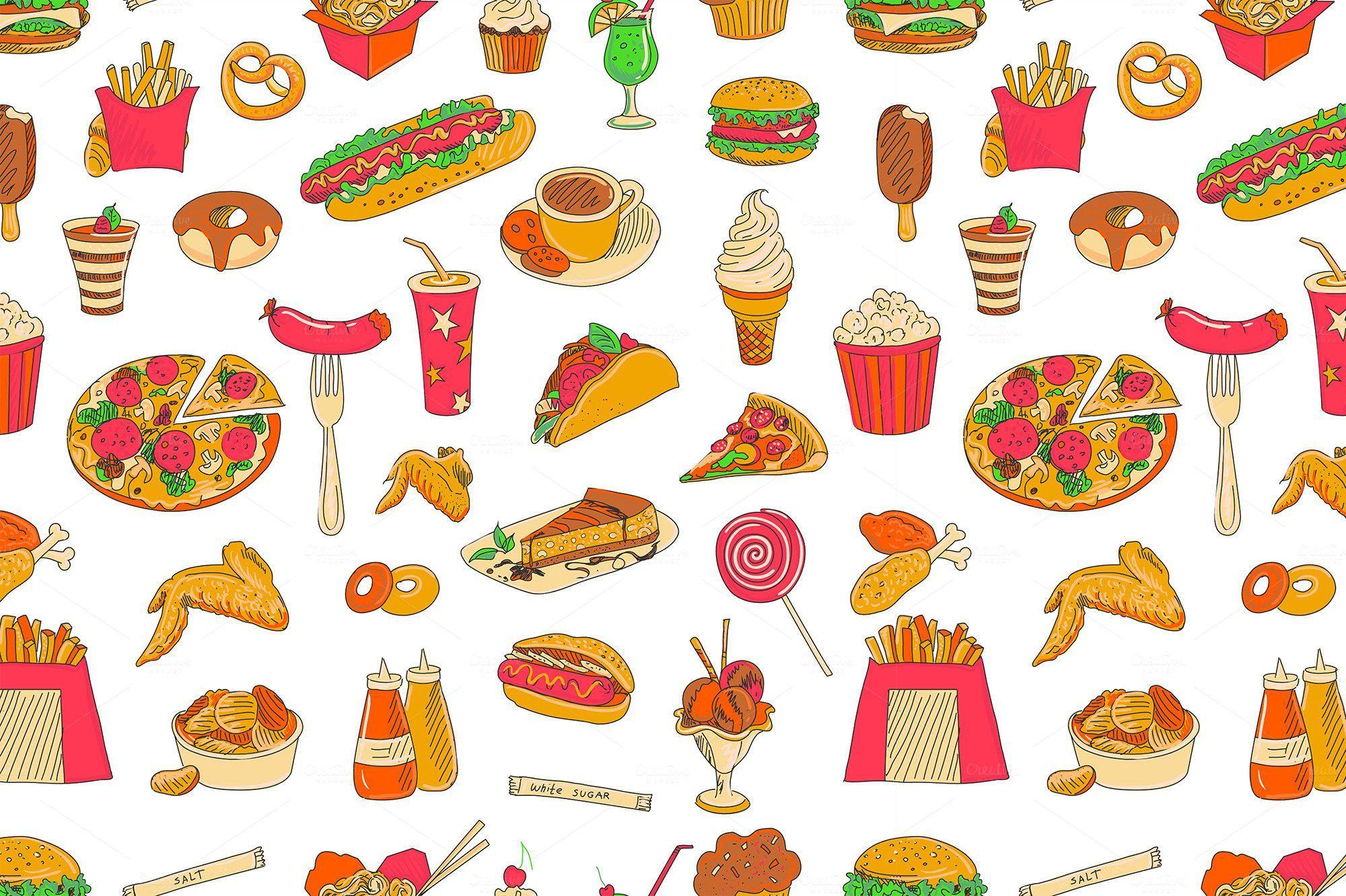 Cute Food Desktop Wallpapers on WallpaperDog