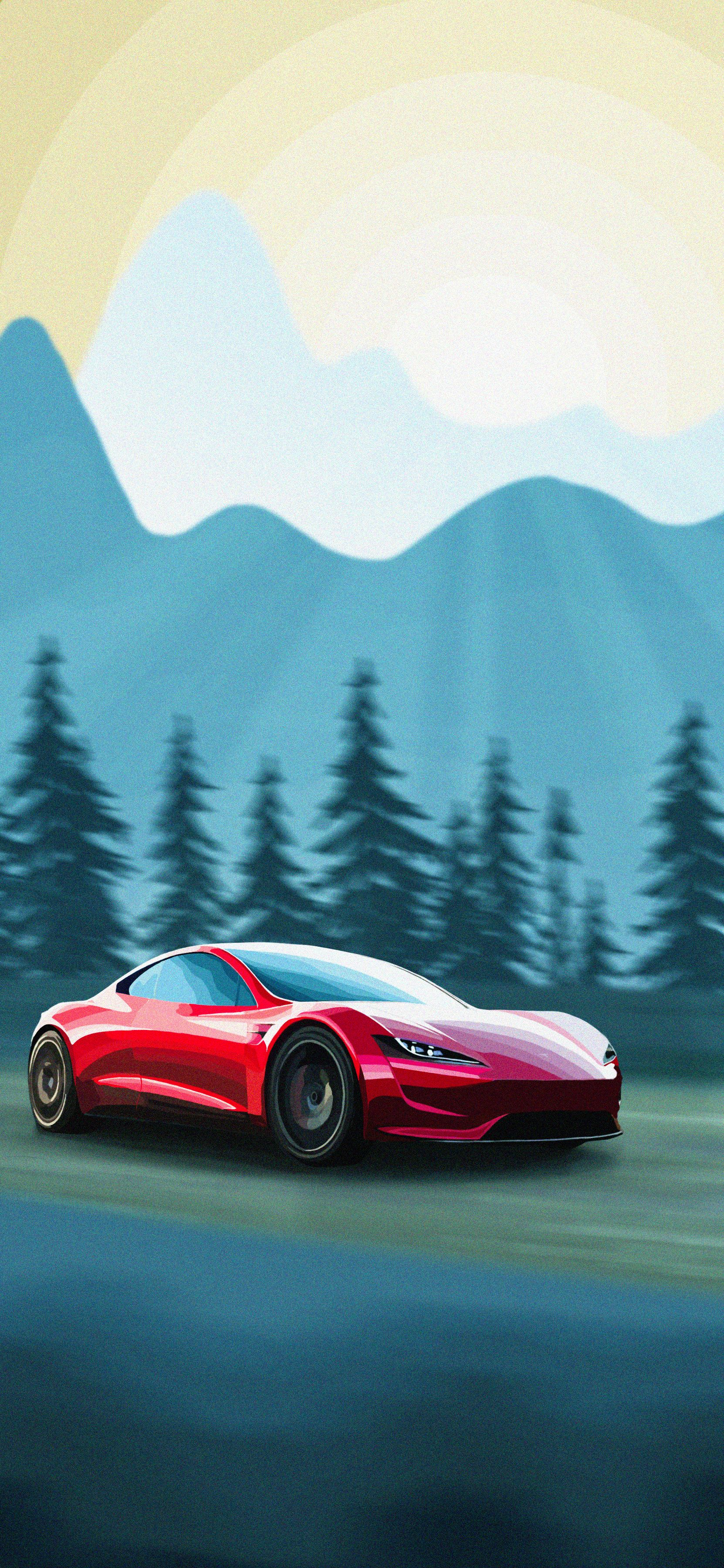 Tesla Roadster Wallpapers On Wallpaperdog