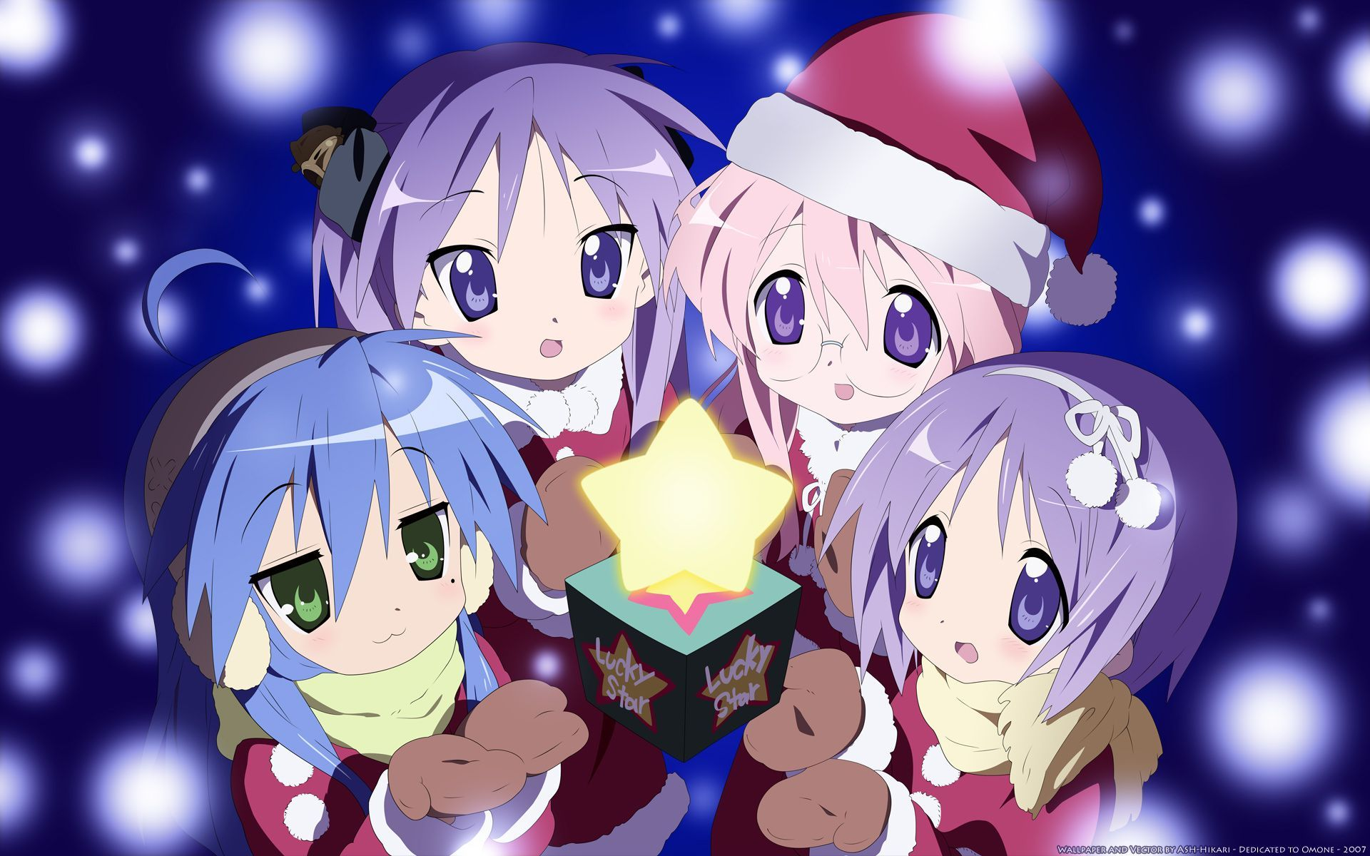 Kawaii Christmas Anime Wallpapers On Wallpaperdog