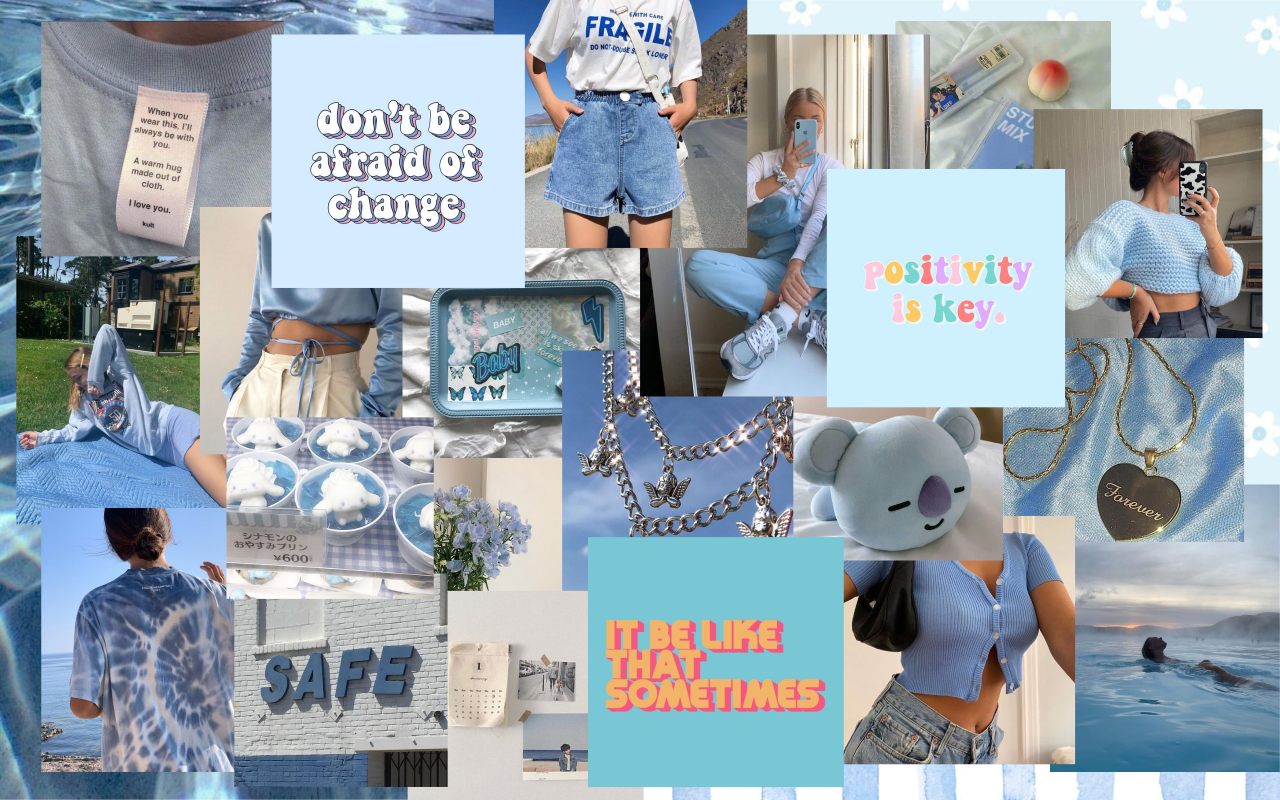 Baby Blue Aesthetic Wallpapers On Wallpaperdog Bring the colors of the rainbow to your screen. baby blue aesthetic wallpapers on