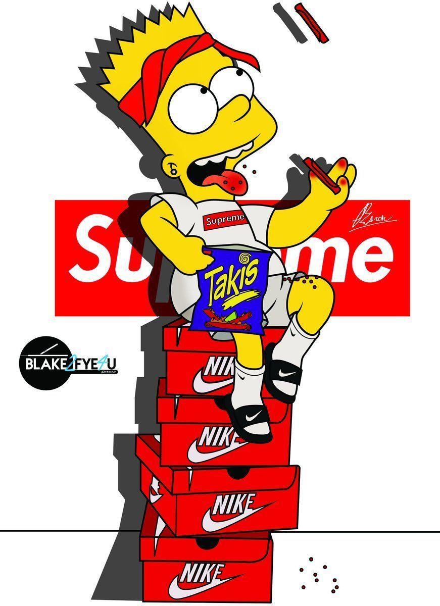 Dope Bart Simpson Supreme Wallpapers On Wallpaperdog