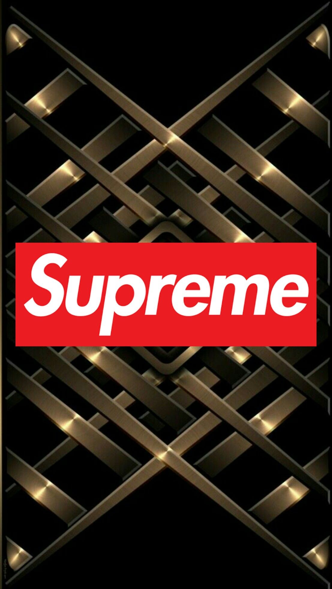 Supreme Gold Wallpapers On Wallpaperdog