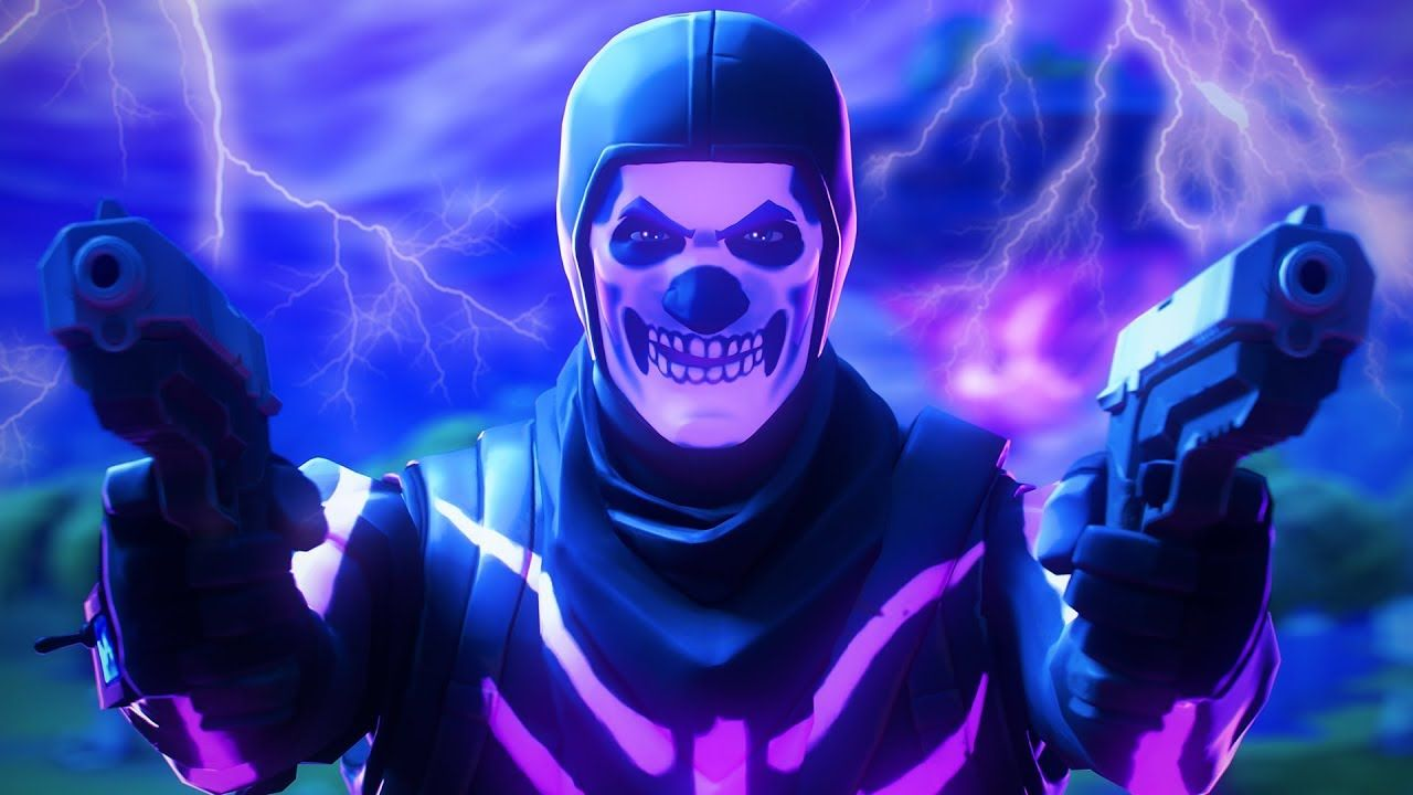 Purple Skull Trooper Fortnite Wallpapers On Wallpaperdog