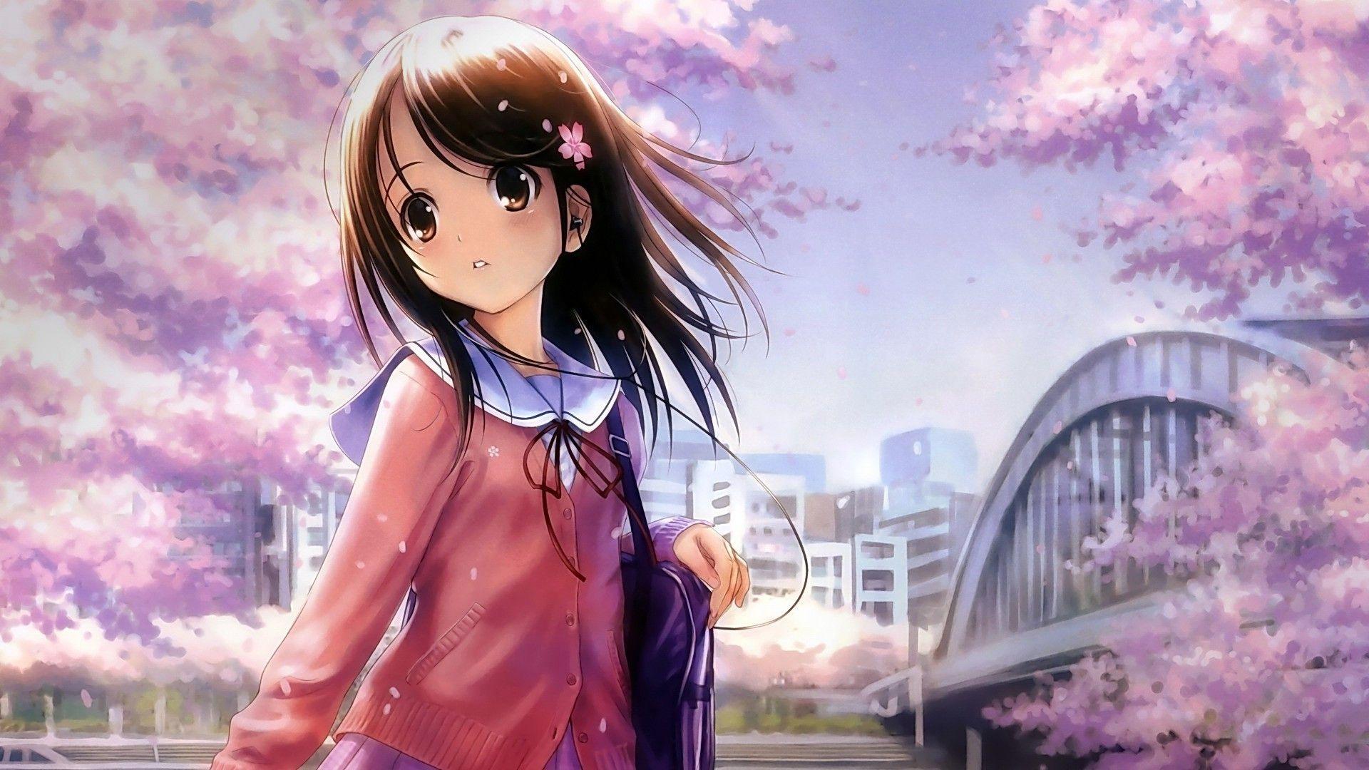 Kawaii Anime Girl Wallpapers On Wallpaperdog