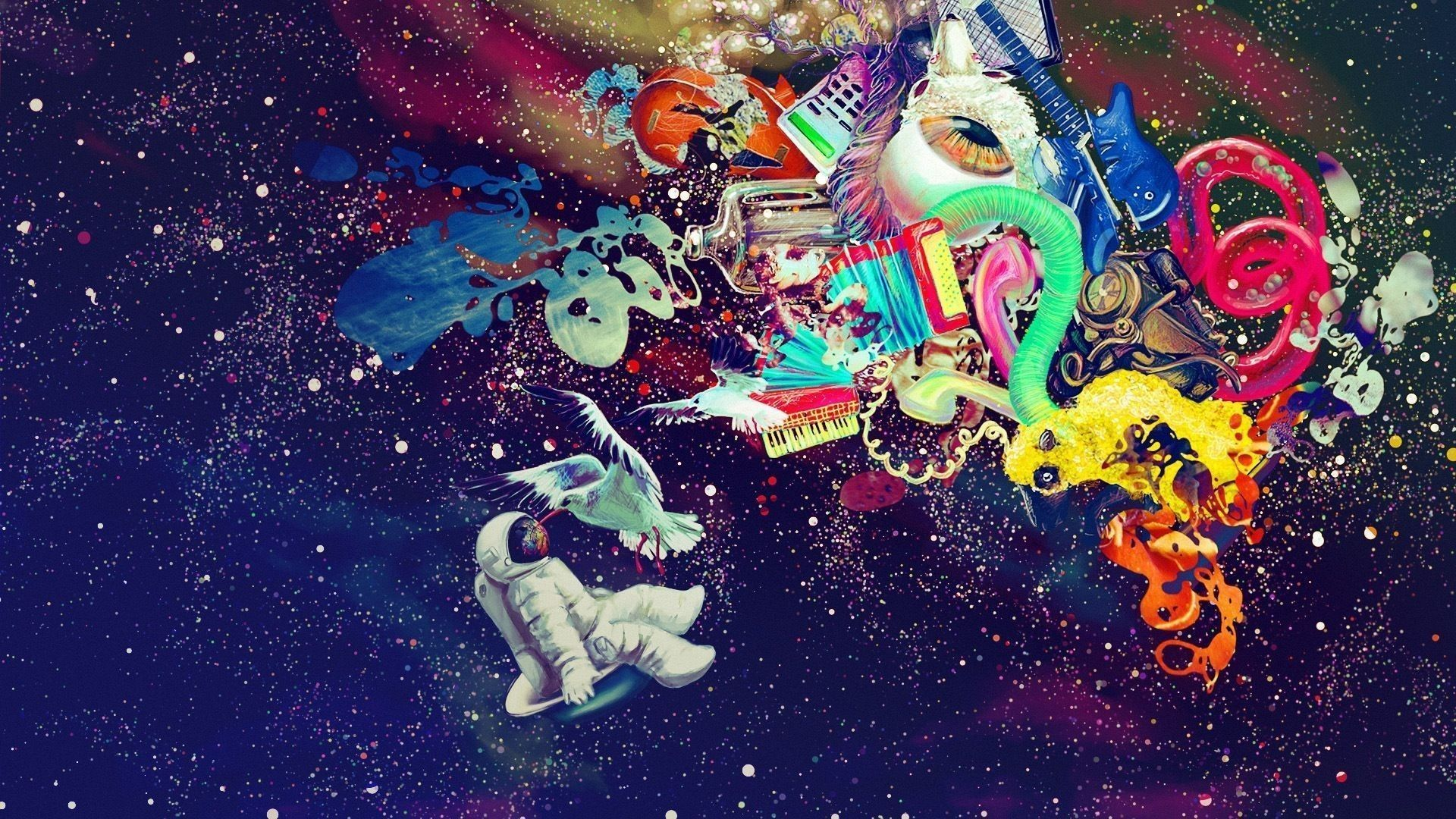 Dope Trippy Galaxy Wallpapers On Wallpaperdog