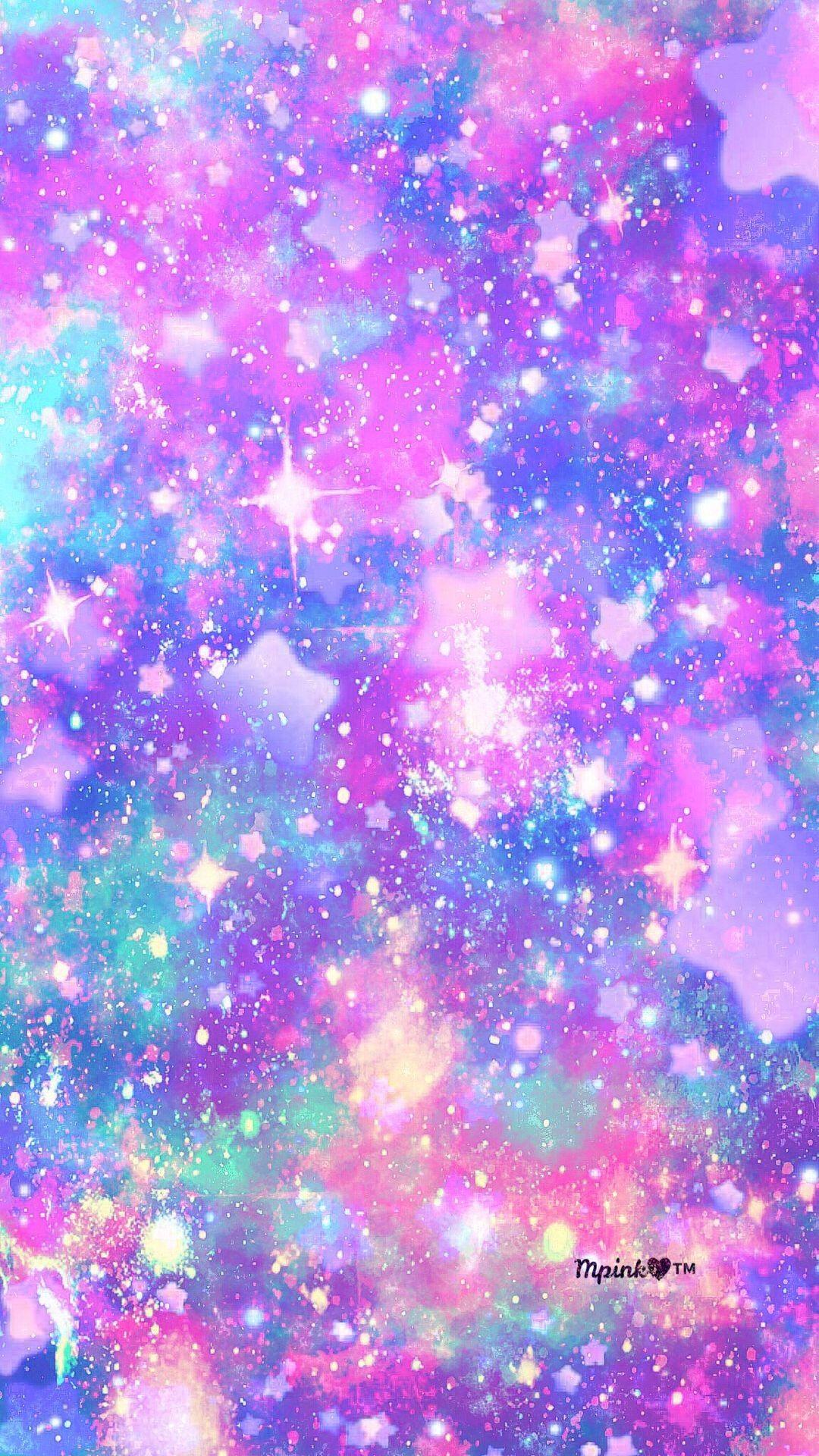 Purple Galaxy Glitter Wallpapers On Wallpaperdog