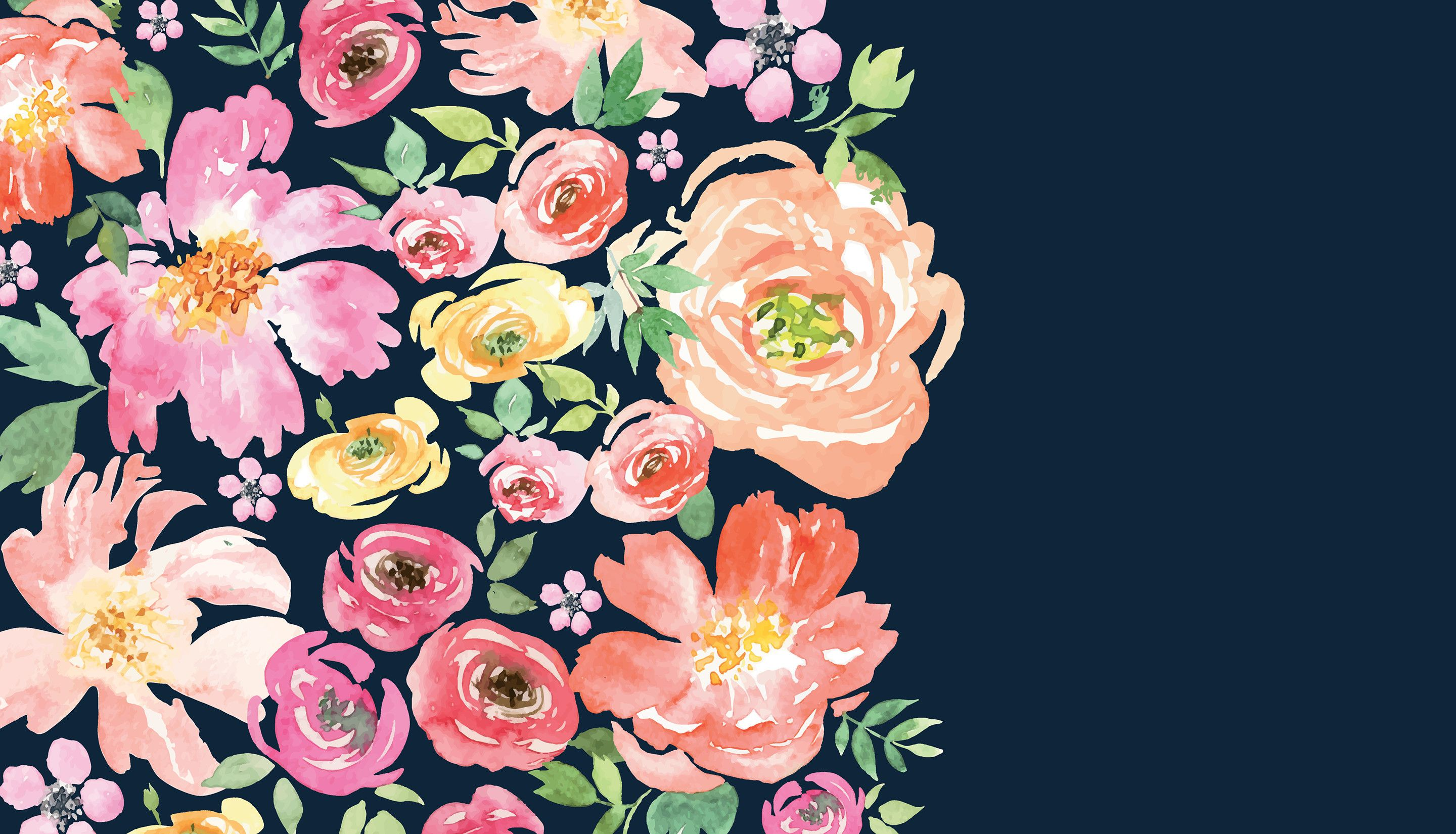 Floral Computer Wallpapers On Wallpaperdog