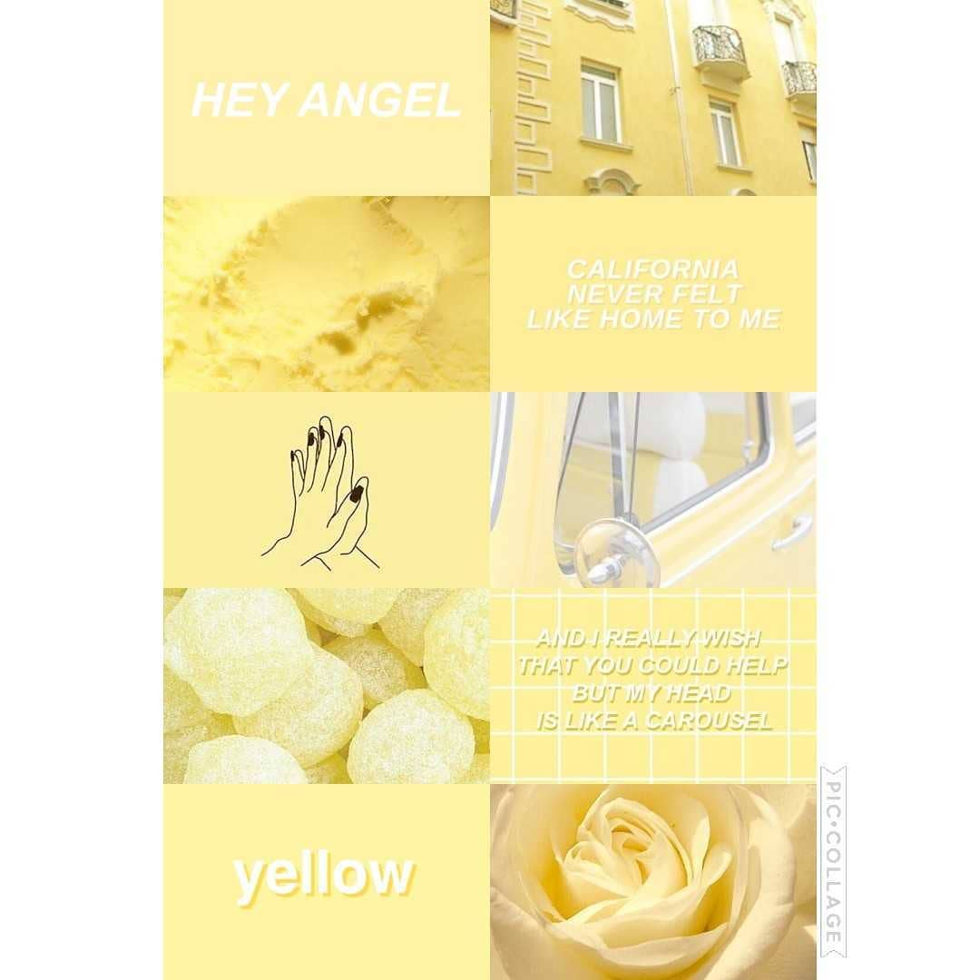 Cute Pastel Yellow Aesthetic Wallpapers On Wallpaperdog