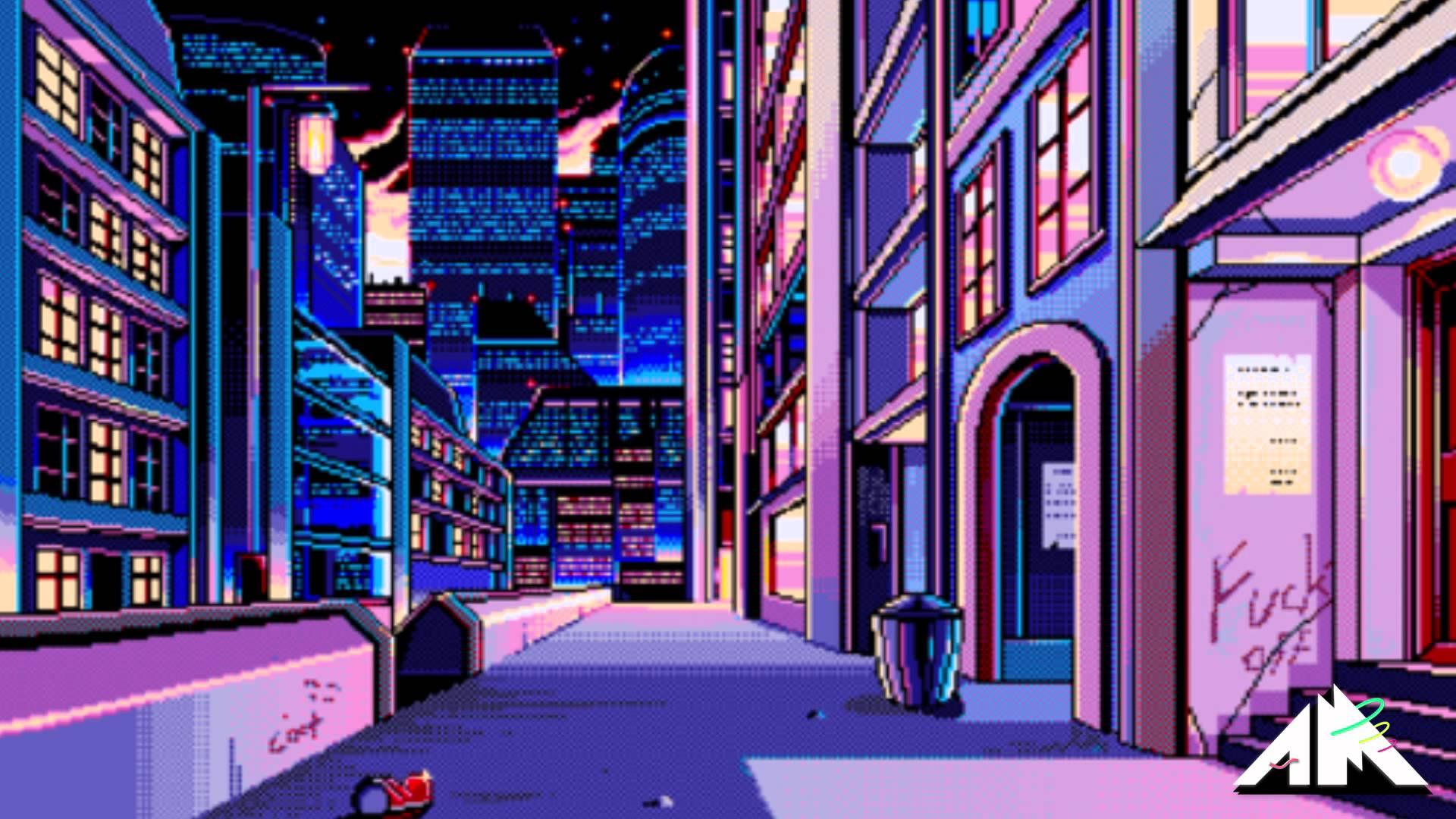 Aesthetic Vaporwave City Wallpapers On Wallpaperdog