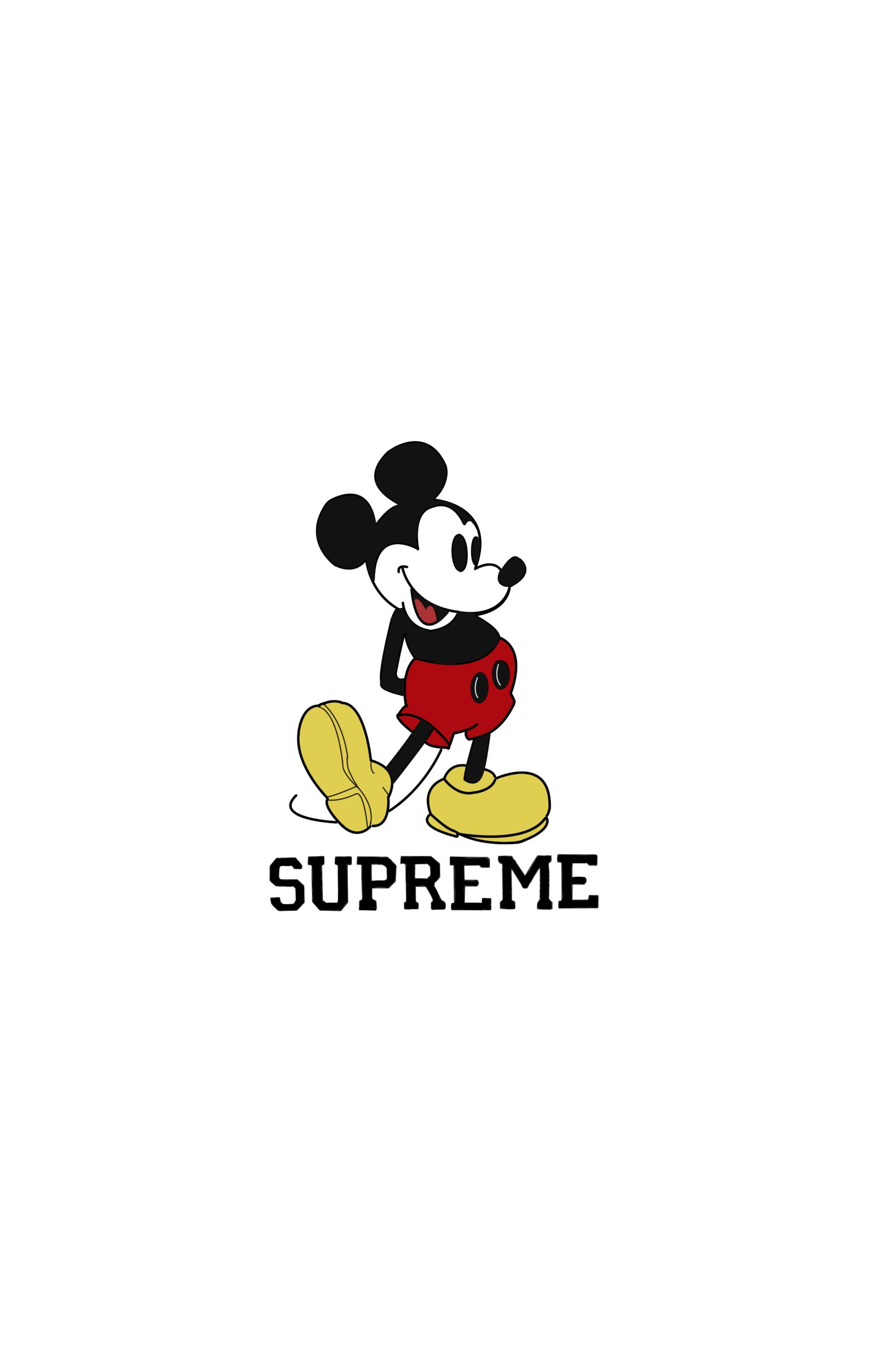 Mickey Mouse Supreme Iphone Wallpapers On Wallpaperdog