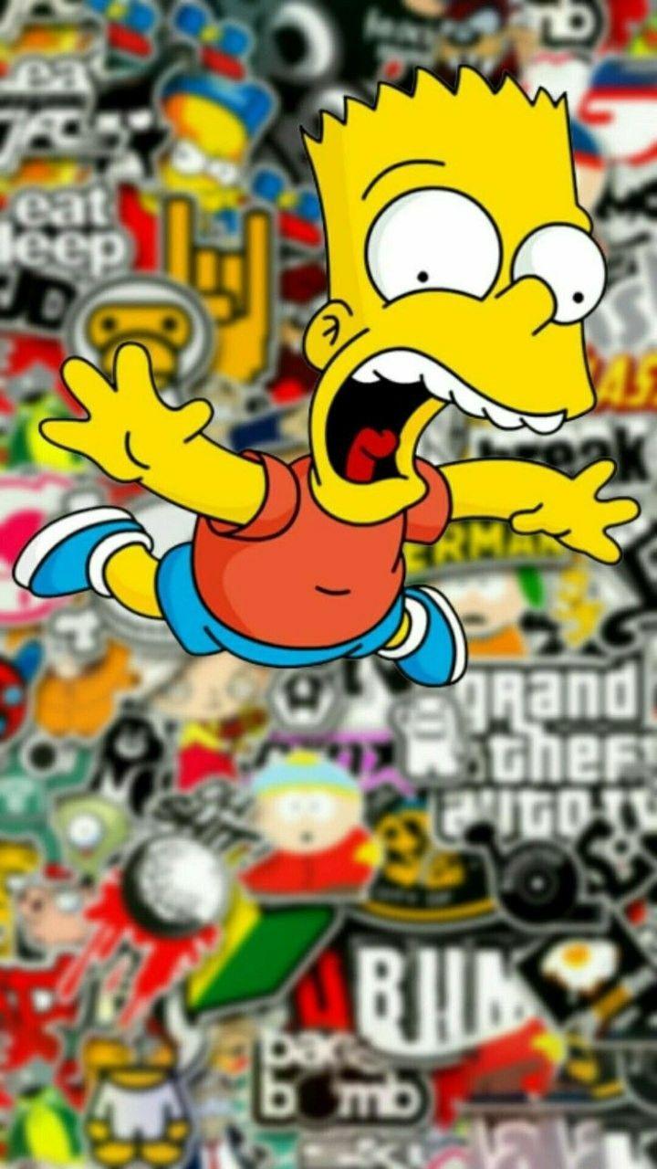 Graffiti Bart Simpson Wallpapers on WallpaperDog