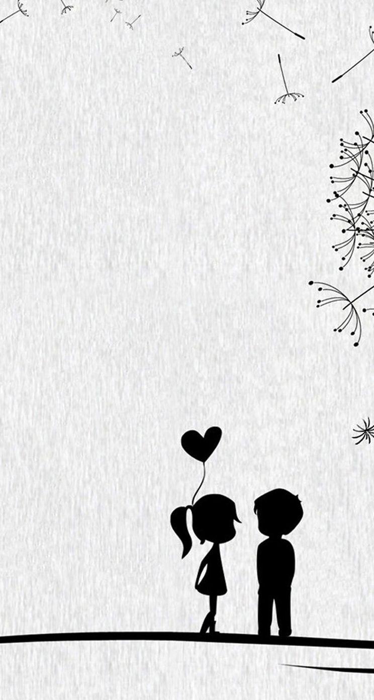 Cute Couple Cartoon Wallpapers On Wallpaperdog