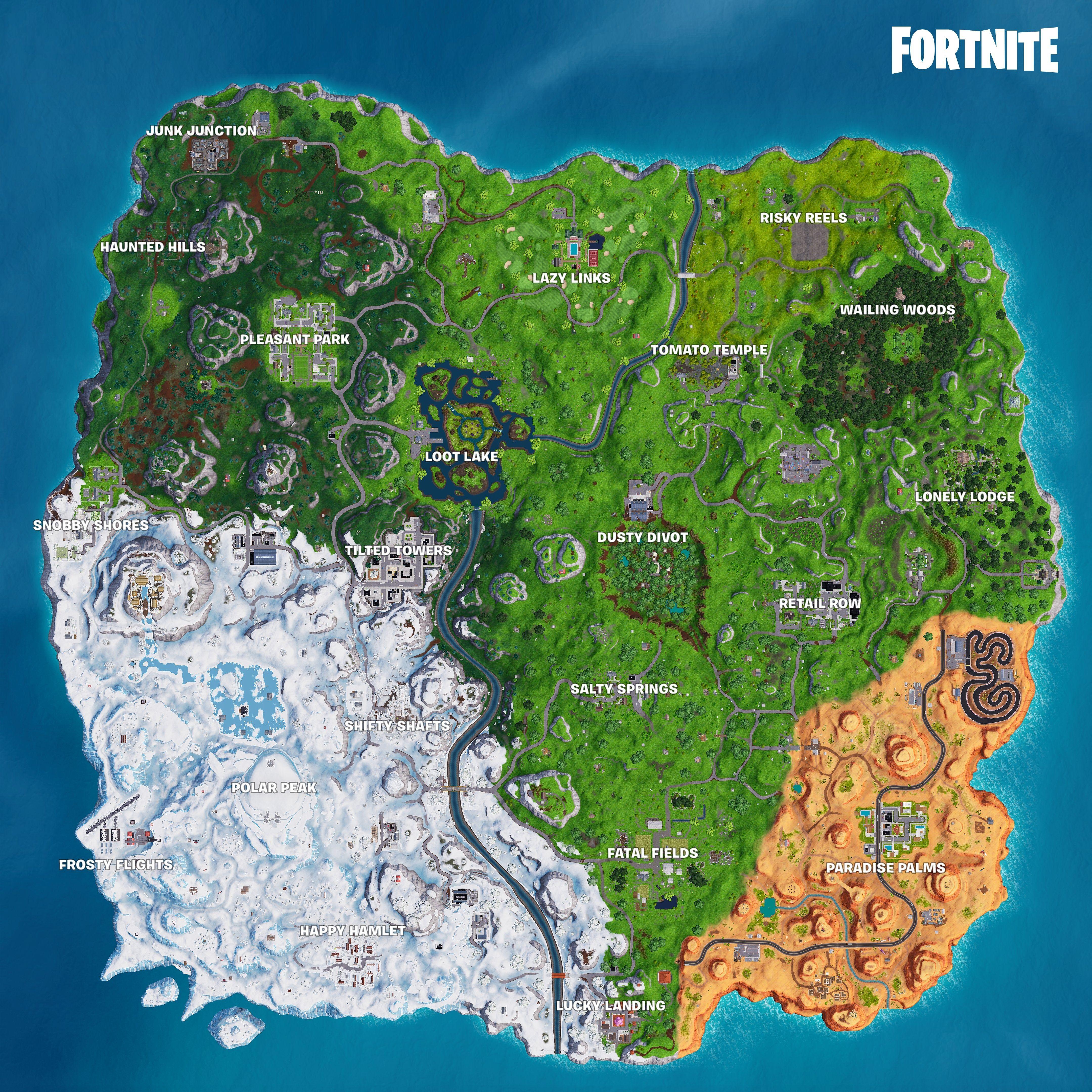 Fortnite Map 4K Wallpapers On WallpaperDog