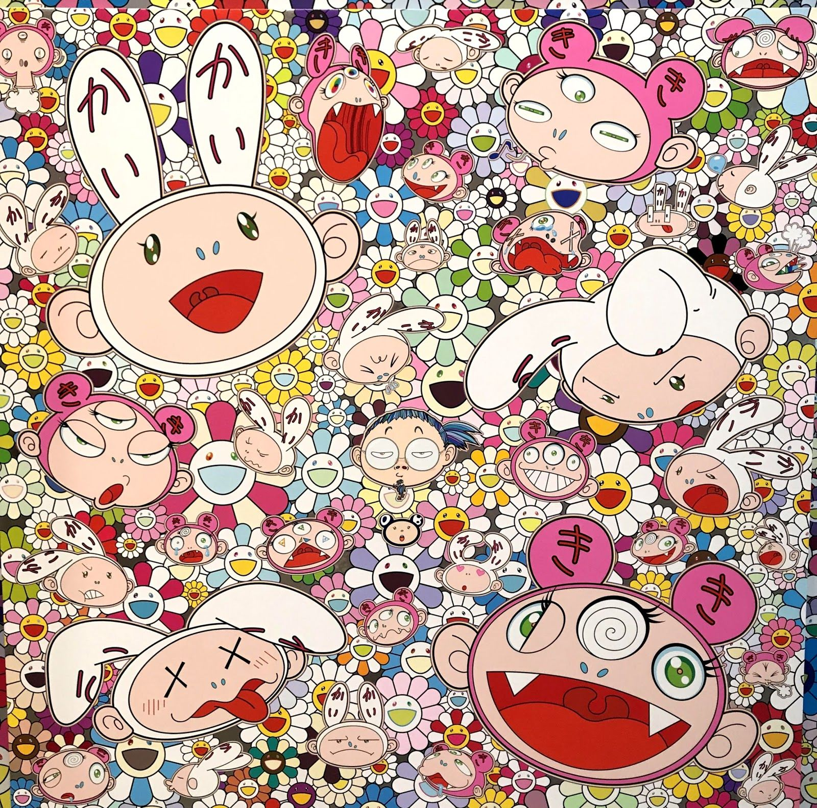 Takashi Murakami Off White Wallpapers On Wallpaperdog