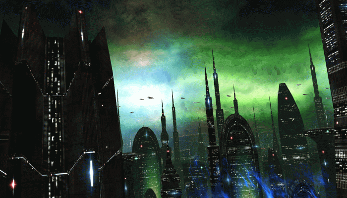 Alien City Wallpaper