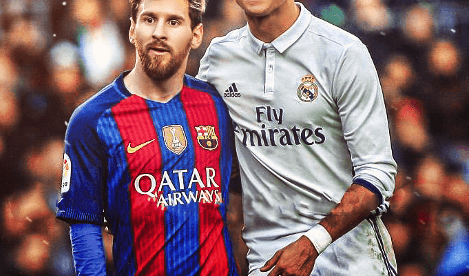 CR7 Over Messi Wallpaper
